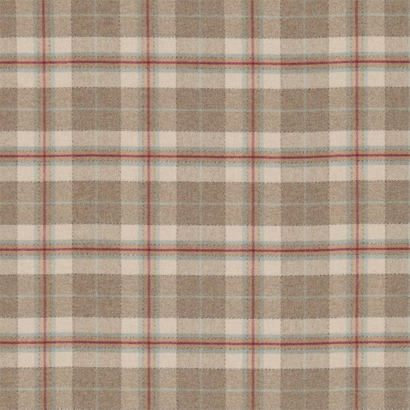 Image of Sanderson Milton Cherry/Biscuit Fabric 233250