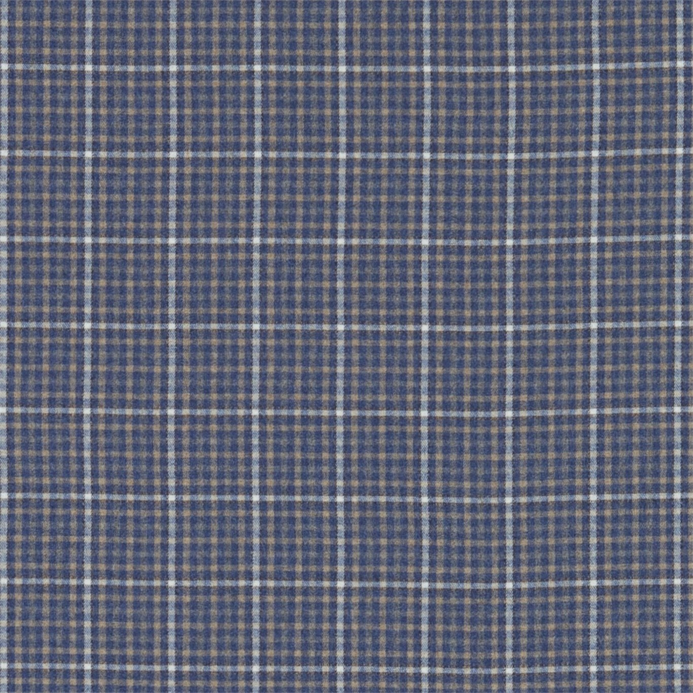 Image of Sanderson Langtry Indigo/Stone Fabric 233259