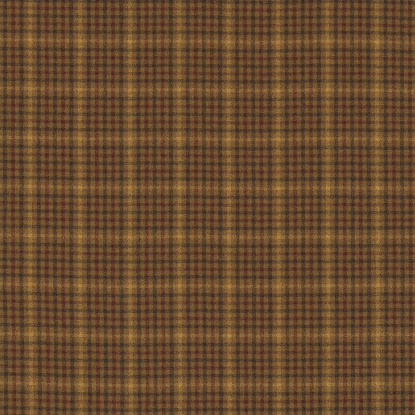 Image of Sanderson Langtry Caramel/Burgundy Fabric 233264