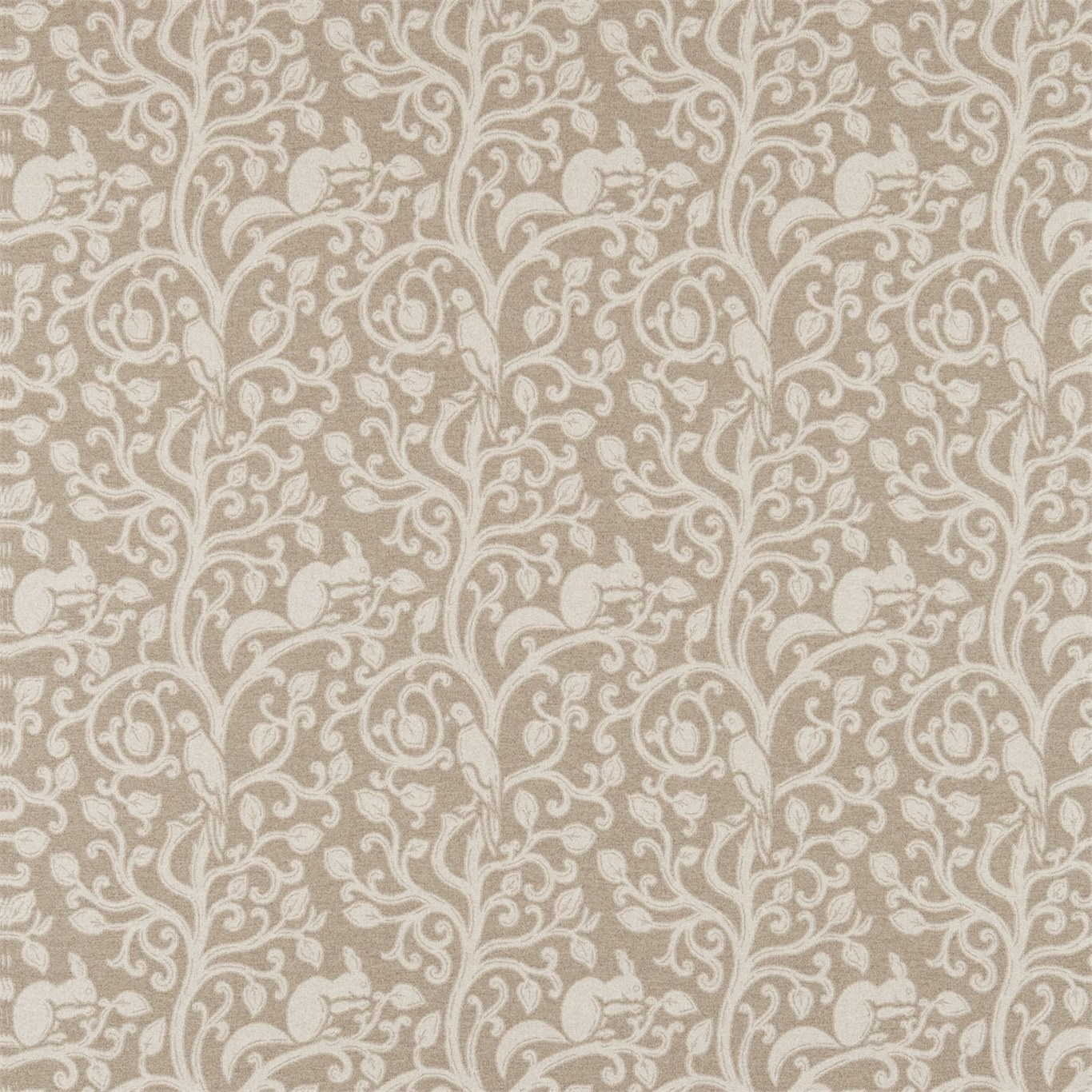 Image of Sanderson Squirrel & Dove Wool Linen Fabric 233265