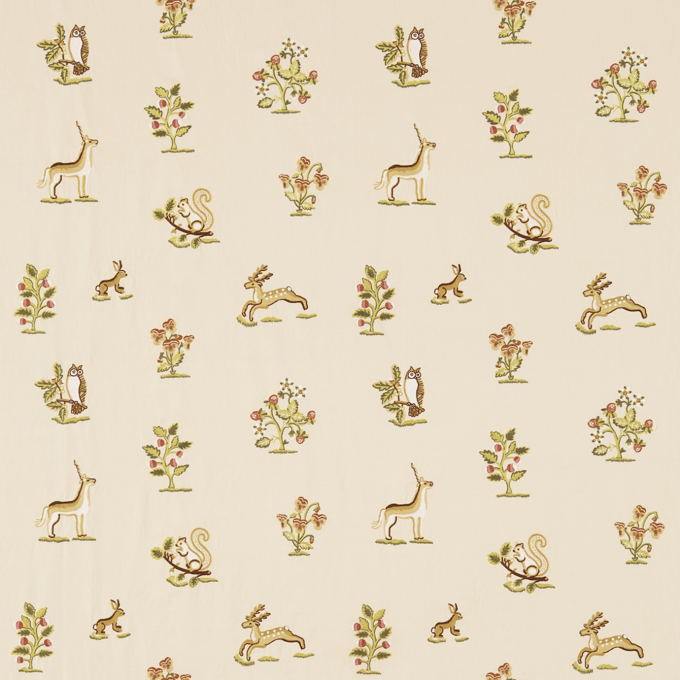 Image of Sanderson Clemence Russet/Sand Fabric 233990