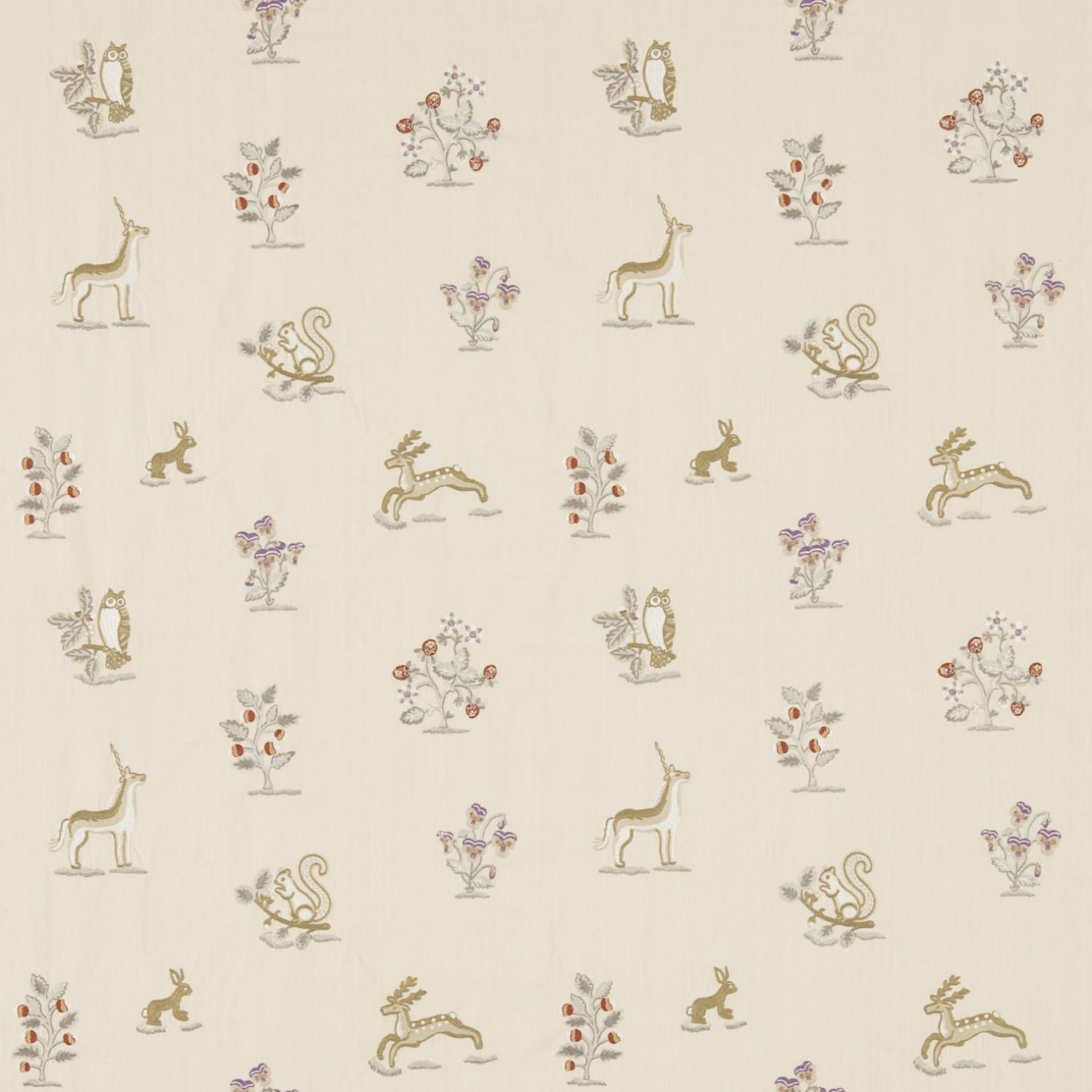 Image of Sanderson Clemence Vanilla/Silver Fabric 233991