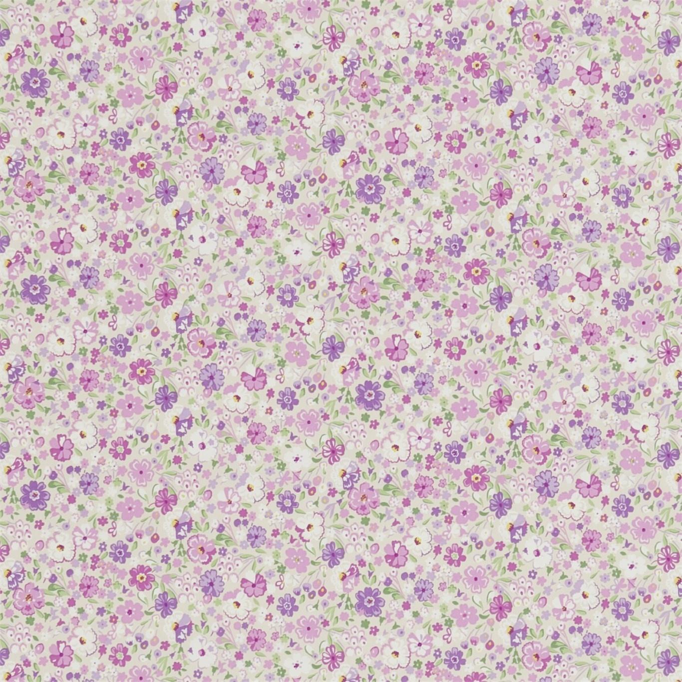Image of Sanderson Posy Floral Lavender Fabric 223904