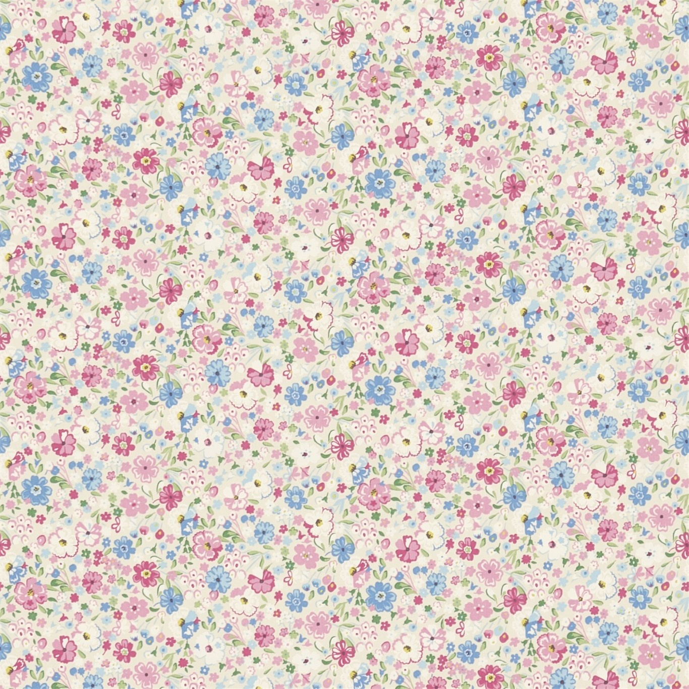 Image of Sanderson Posy Floral Chintz Fabric 223906