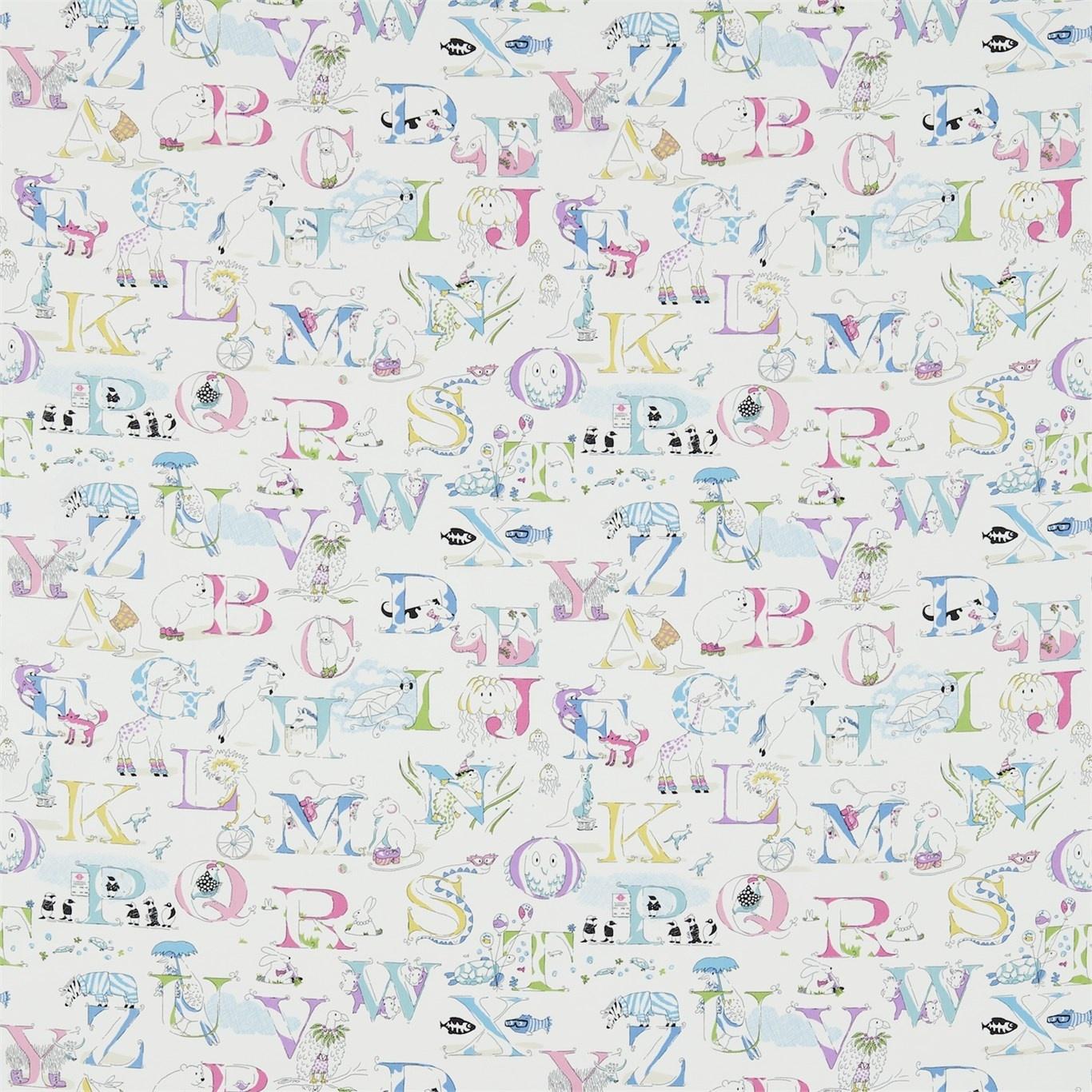 Image of Sanderson Alphabet Zoo Neapolitan Fabric 223911