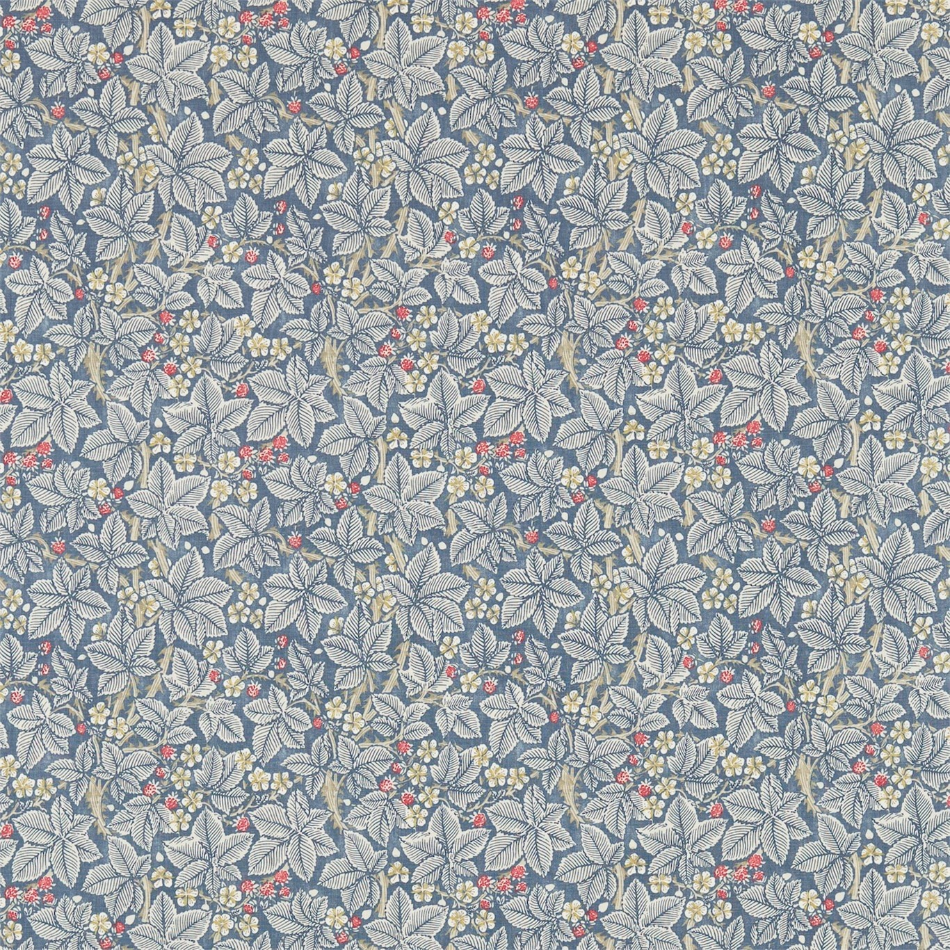 Image of Morris & Co Bramble Mineral/Slate Curtain Fabric 224462