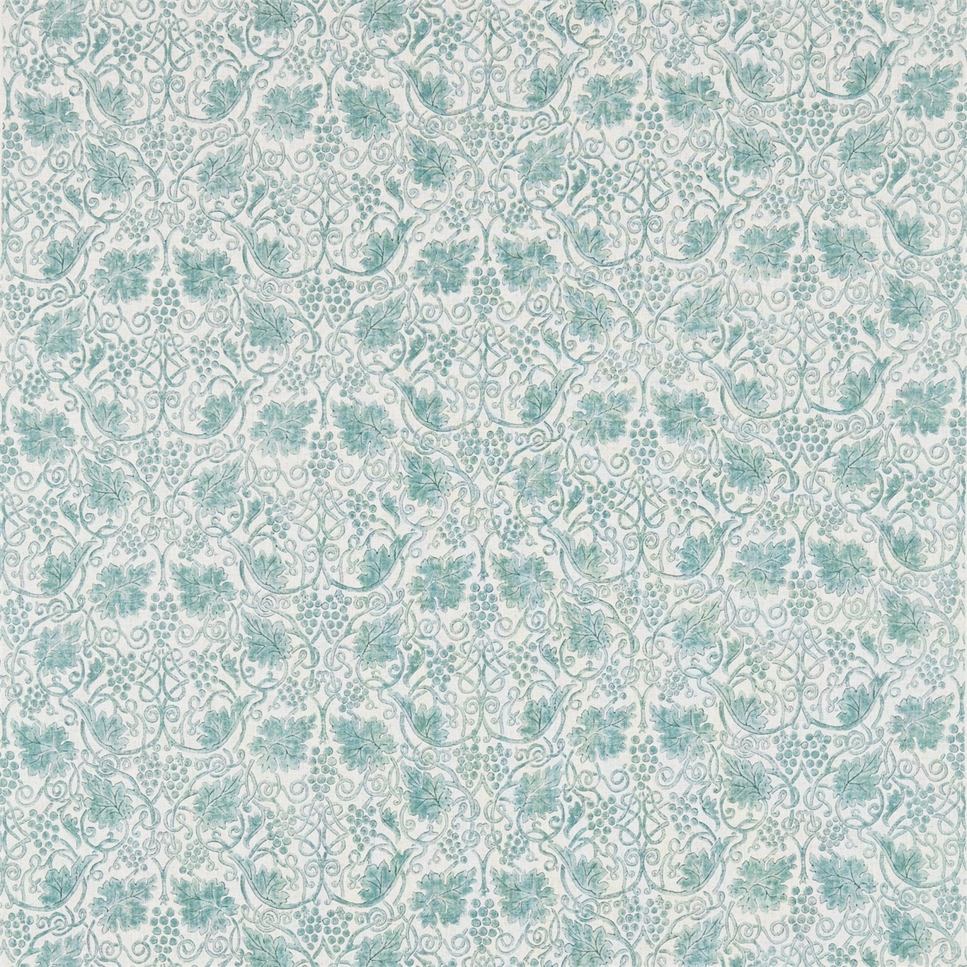 Image of Morris & Co Grapevine Sage Curtain Fabric 224474