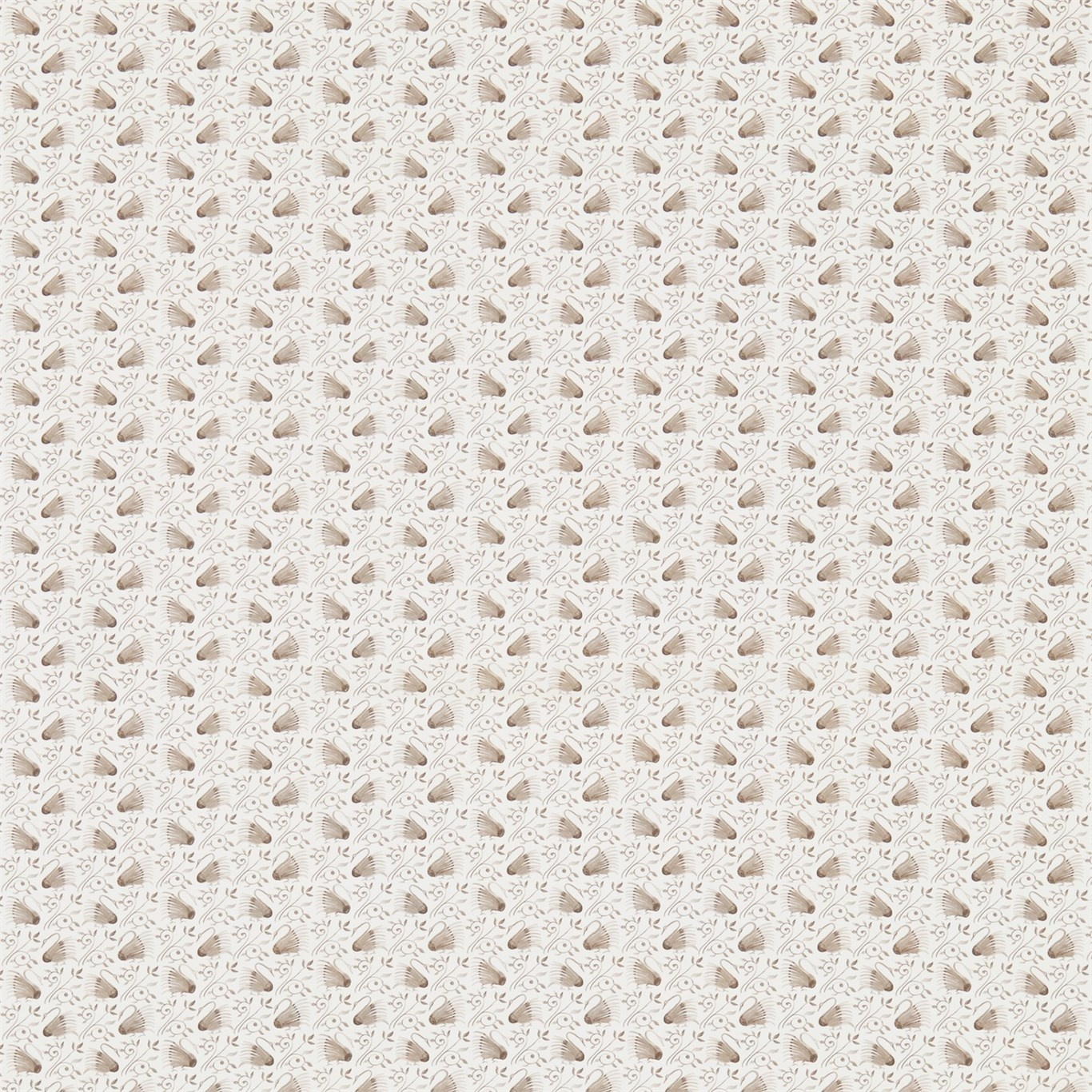 Image of Morris & Co Swans Linen/Ecru Curtain Fabric 224478