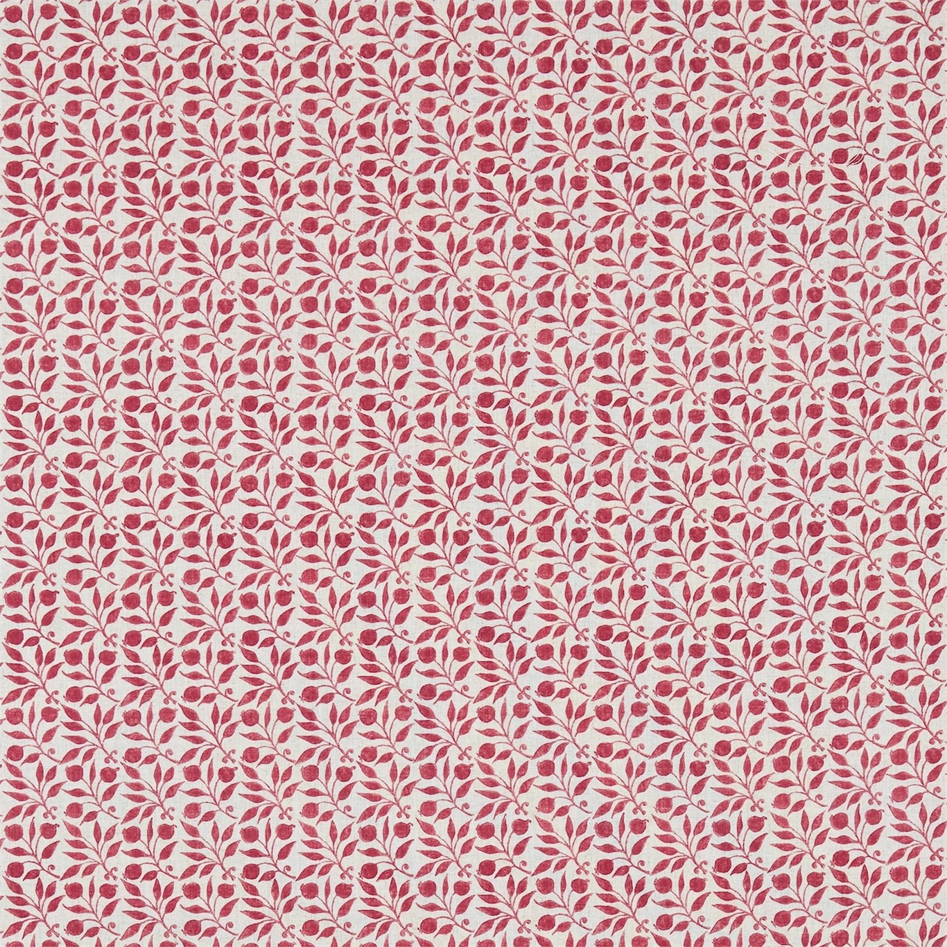 Image of Morris & Co Rosehip Rose Curtain Fabric 224485