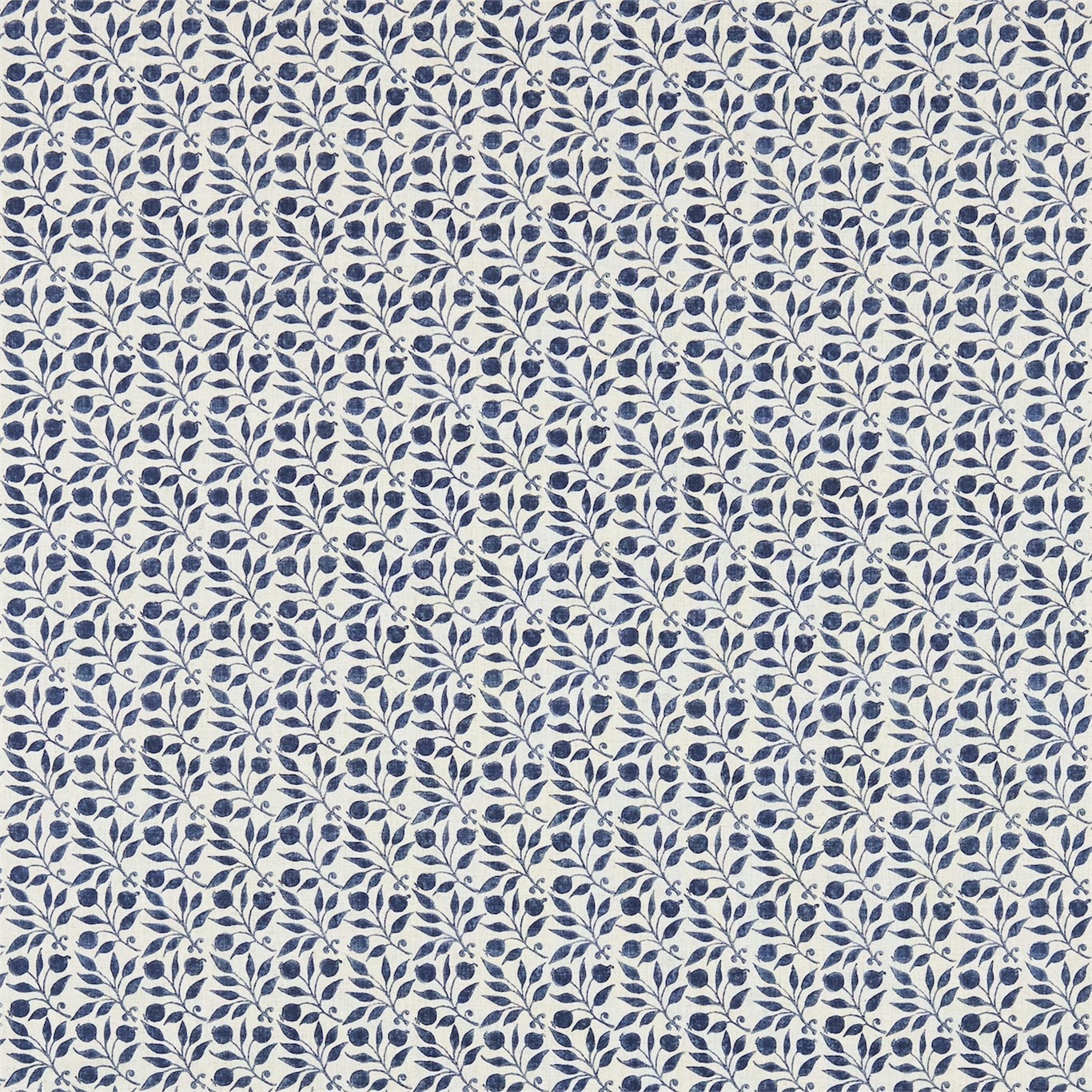 Image of Morris & Co Rosehip Indigo Curtain Fabric 224486, 226457