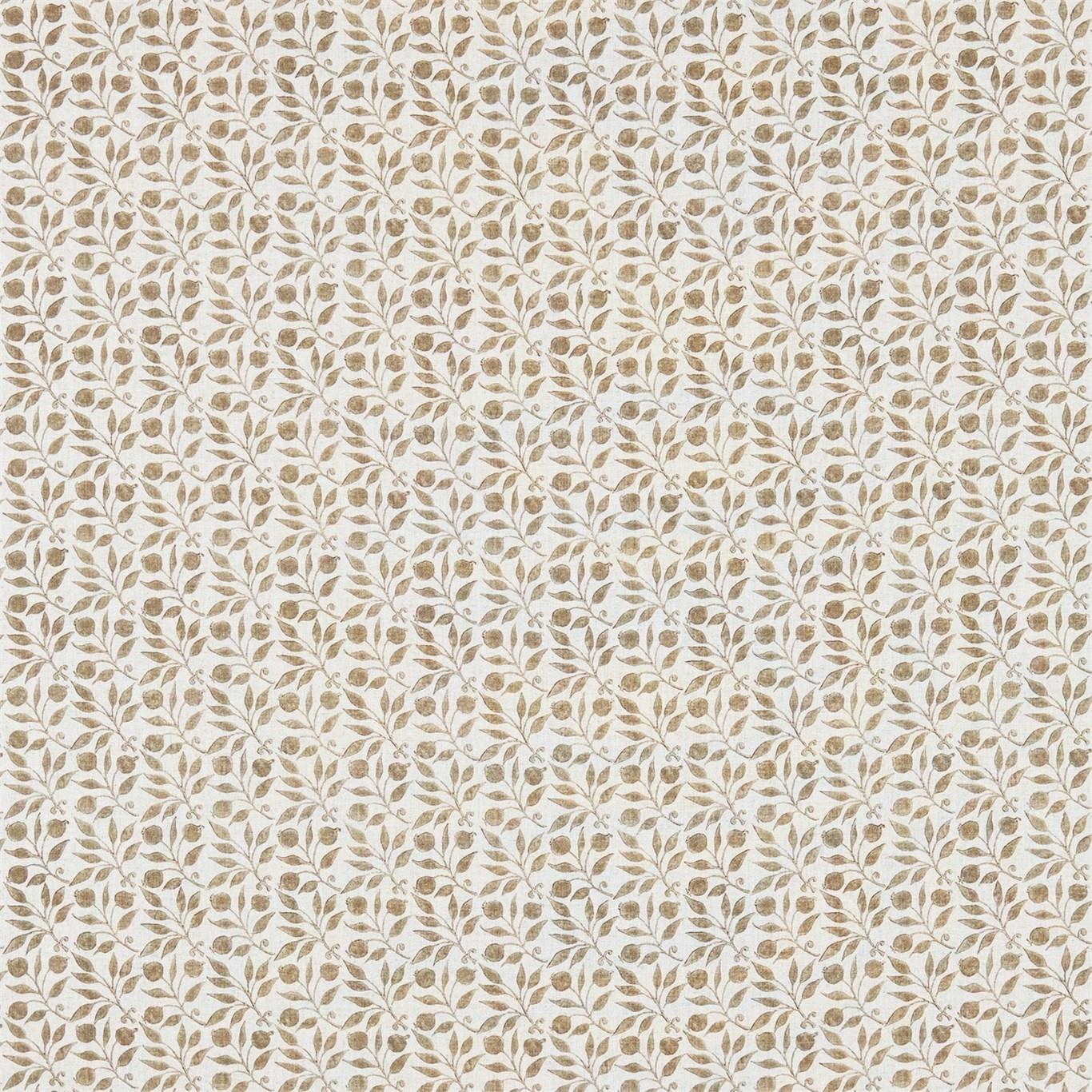 Image of Morris & Co Rosehip Linen/Ecru Curtain Fabric 224487