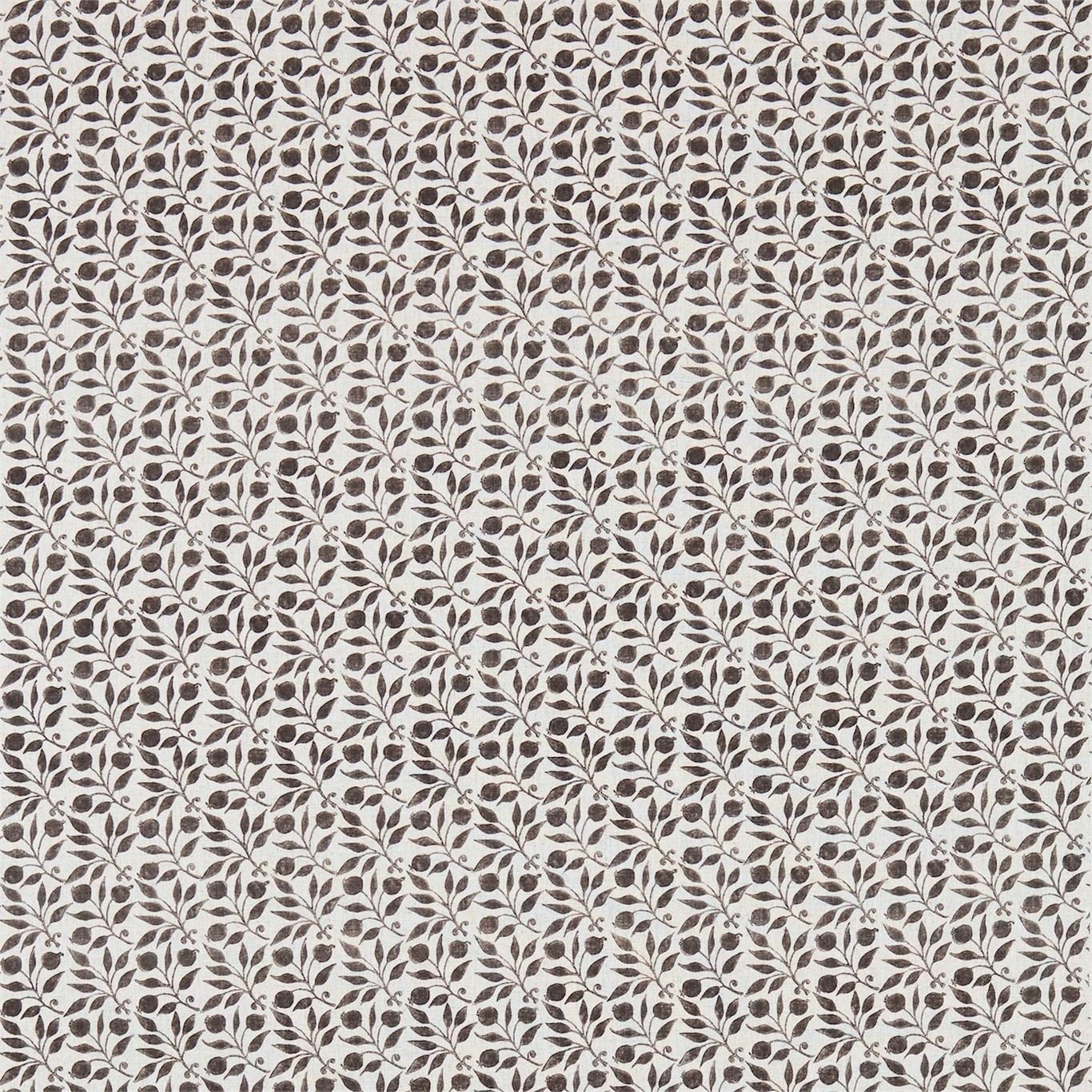 Image of Morris & Co Rosehip Black/Ecru Curtain Fabric 224488