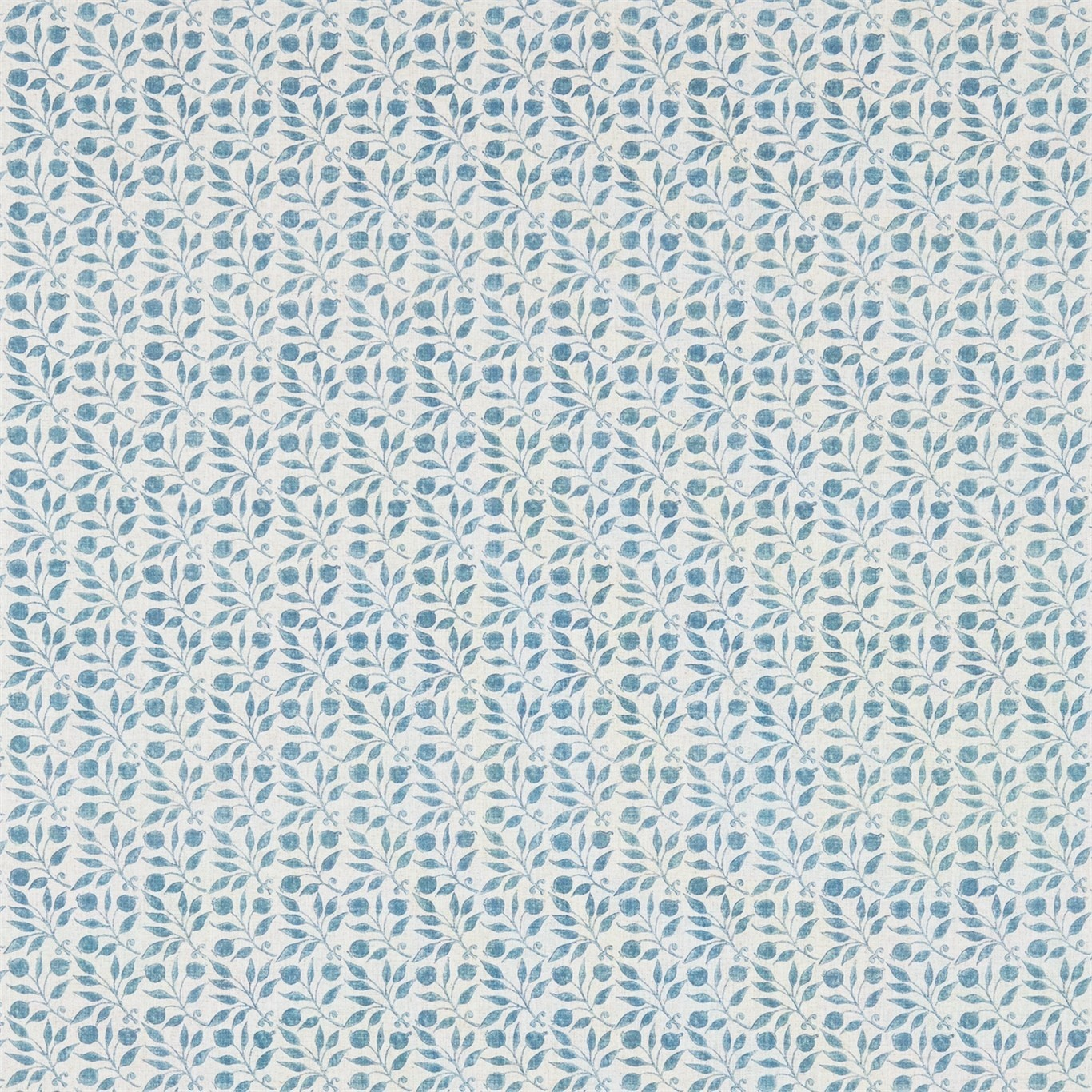 Image of Morris & Co Rosehip Mineral Blue Curtain Fabric 224490
