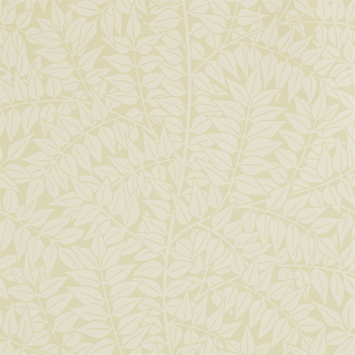 Image of Morris & Co Branch Tempera Cream Wallpaper 210378