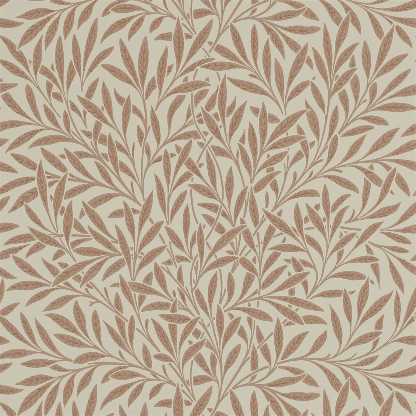Image of Morris & Co Willow Russet Wallpaper 210381
