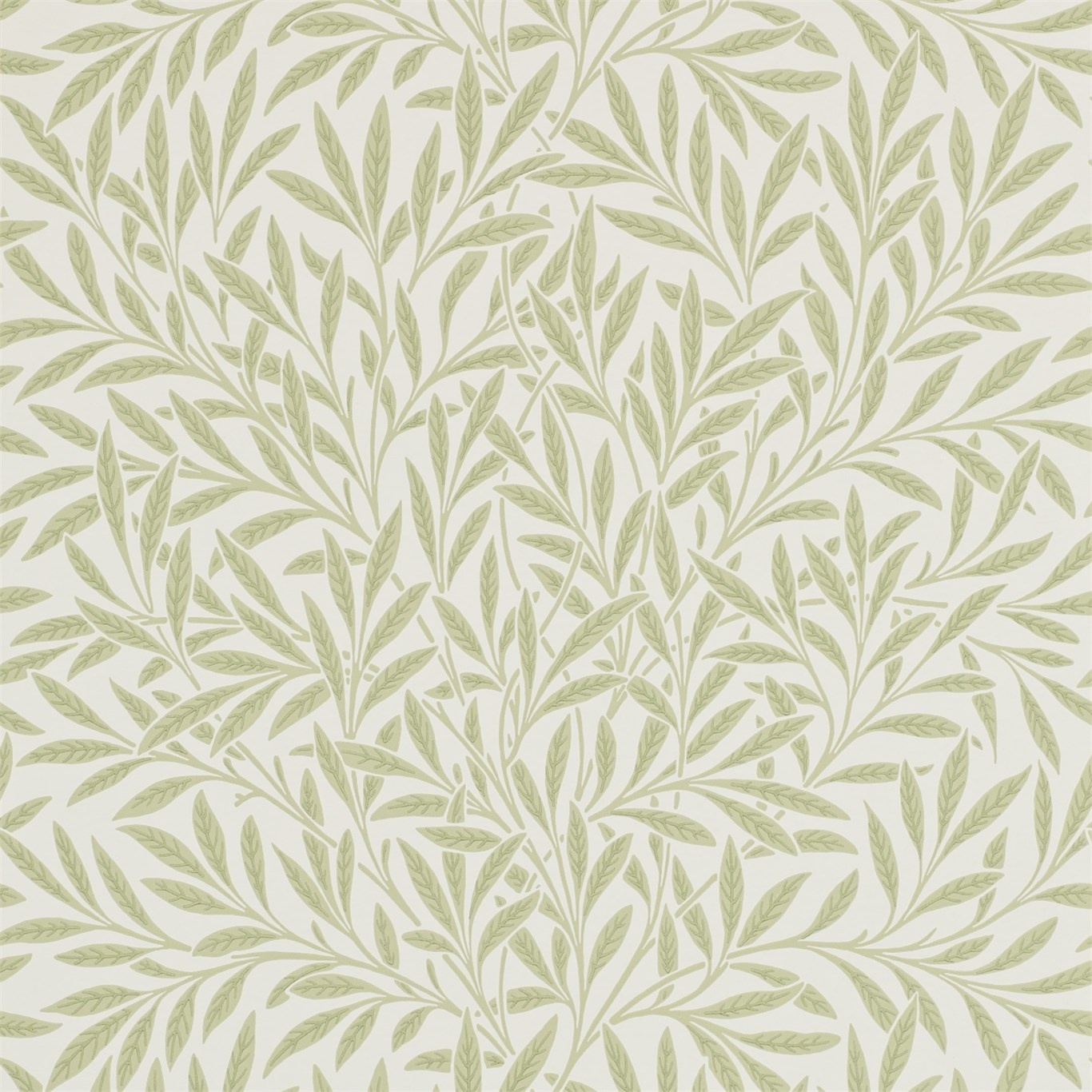 Image of Morris & Co Willow Olive Wallpaper 210383