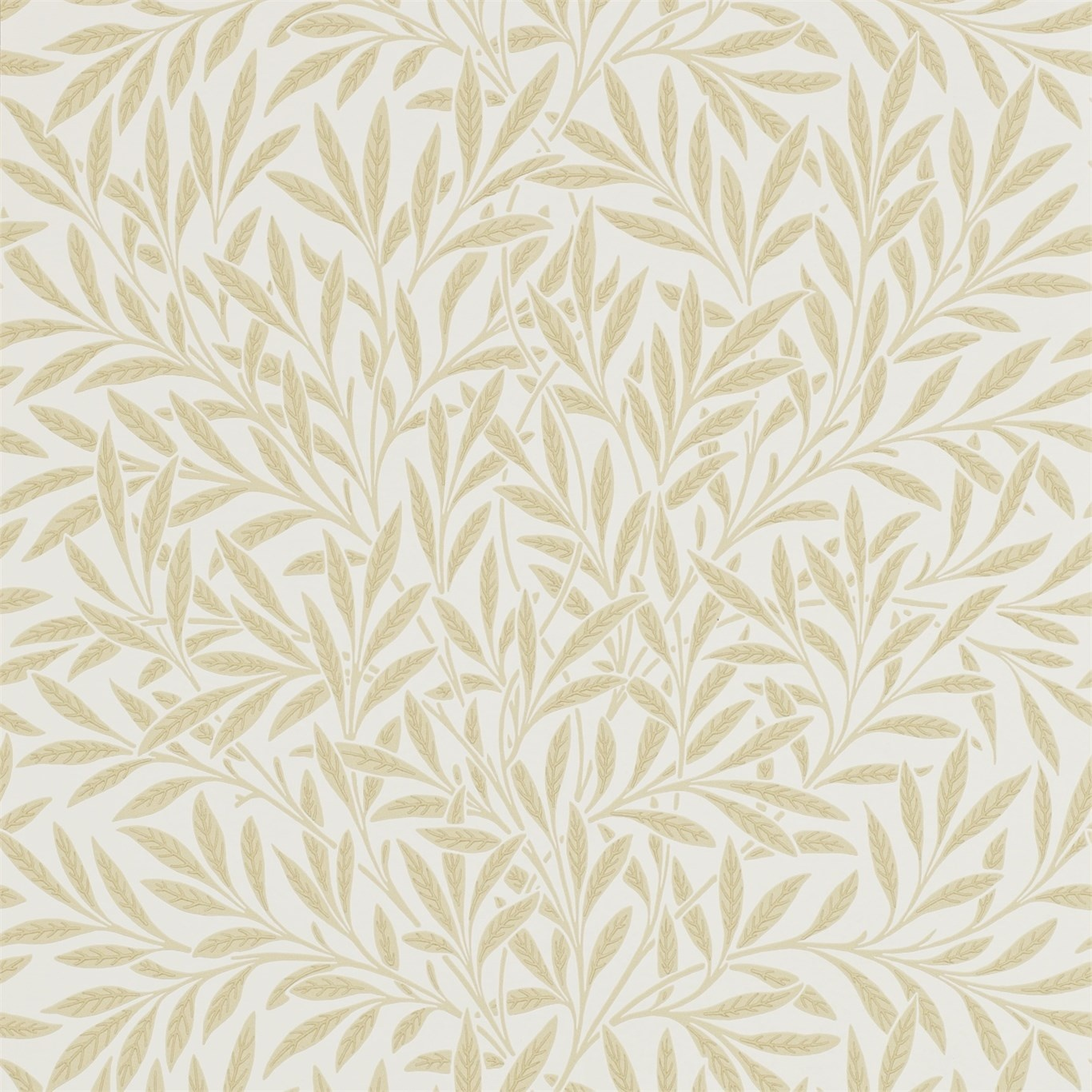 Image of Morris & Co Willow Buff Wallpaper 210385