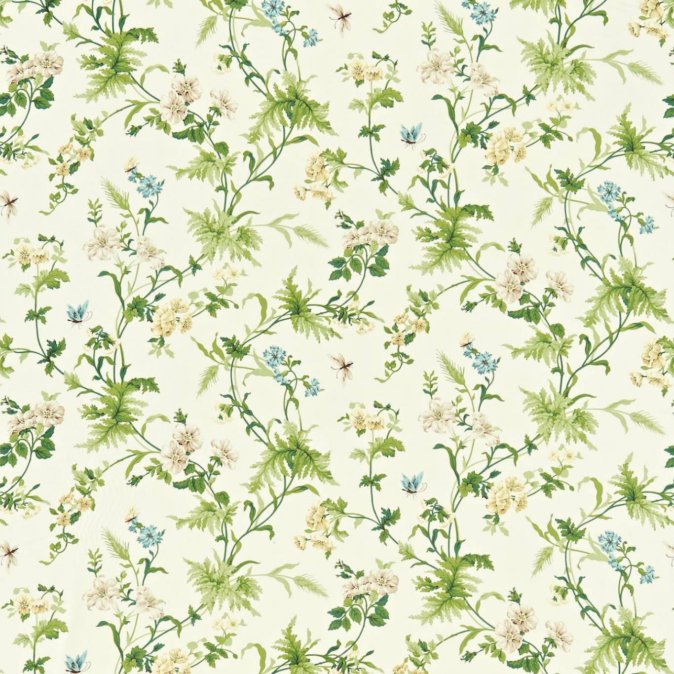 Image of Sanderson Primrose Hill Cream/Olive Curtain Fabric 221941