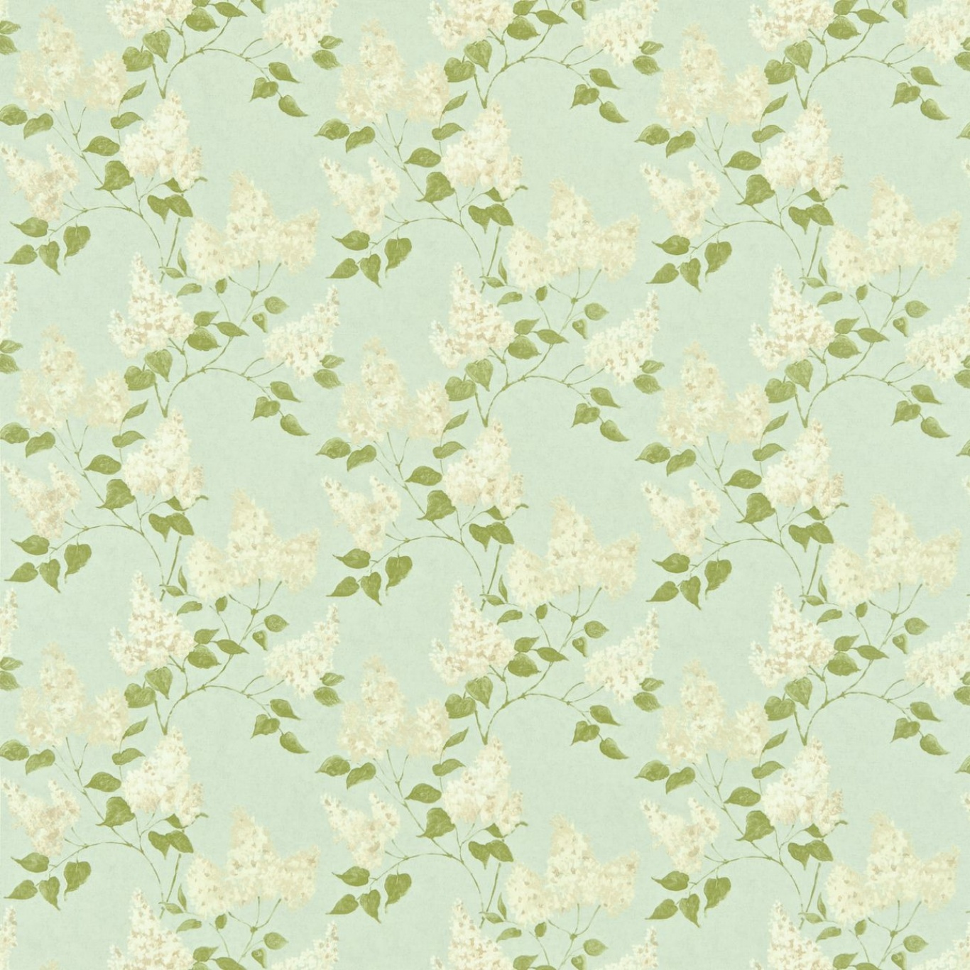 Image of Sanderson Lilacs Duck Egg/Ivory Curtain Fabric 221961