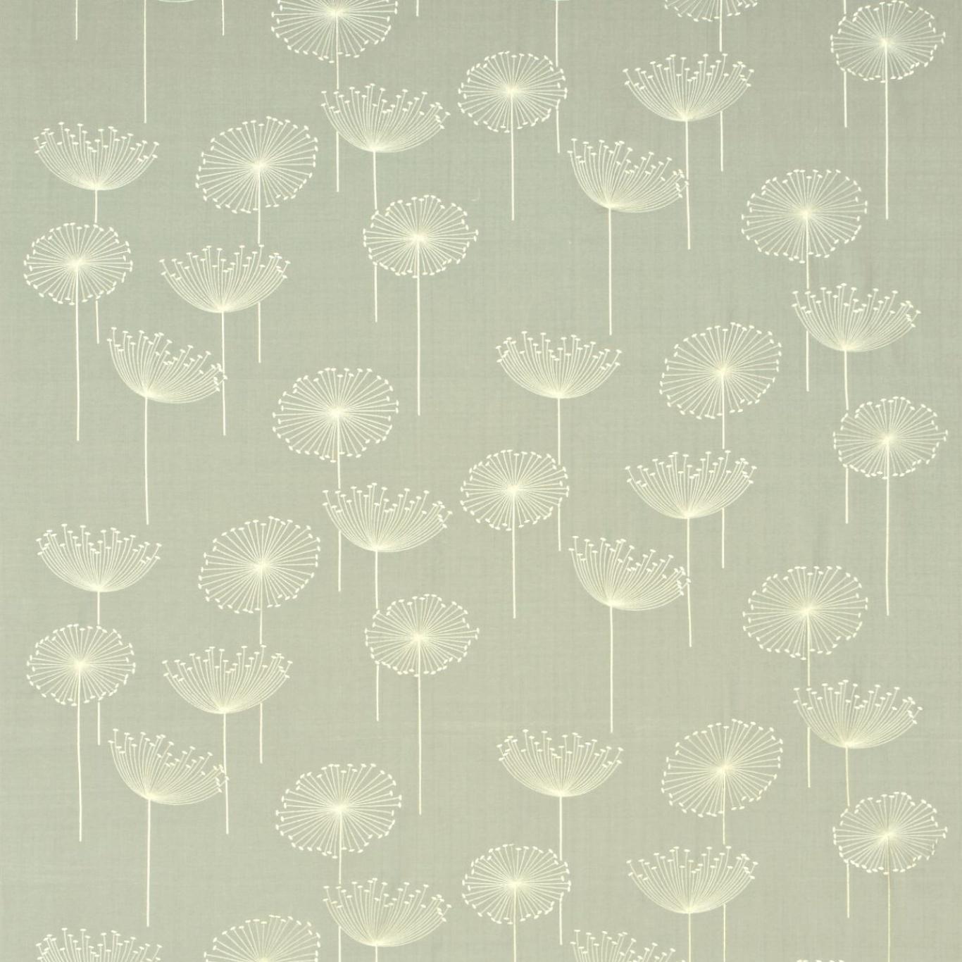 Image of Sanderson Dandelion Clocks Embroidery Silver/Ivory Fabric DOPEDA305