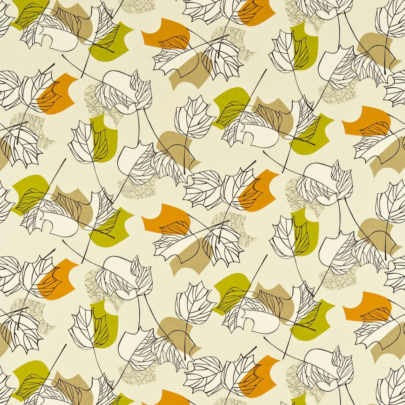 Image of Sanderson Maple Autumn Curtain Fabric 222373
