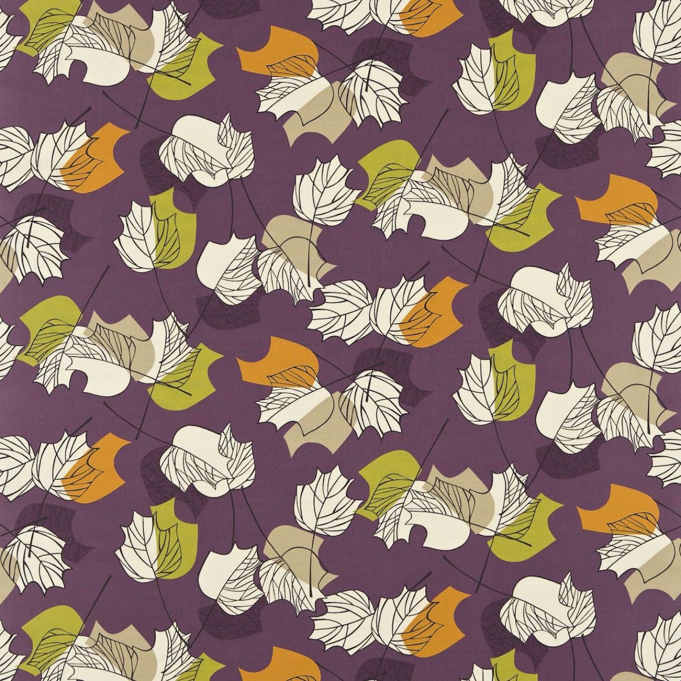 Image of Sanderson Maple Plum Curtain Fabric 222374
