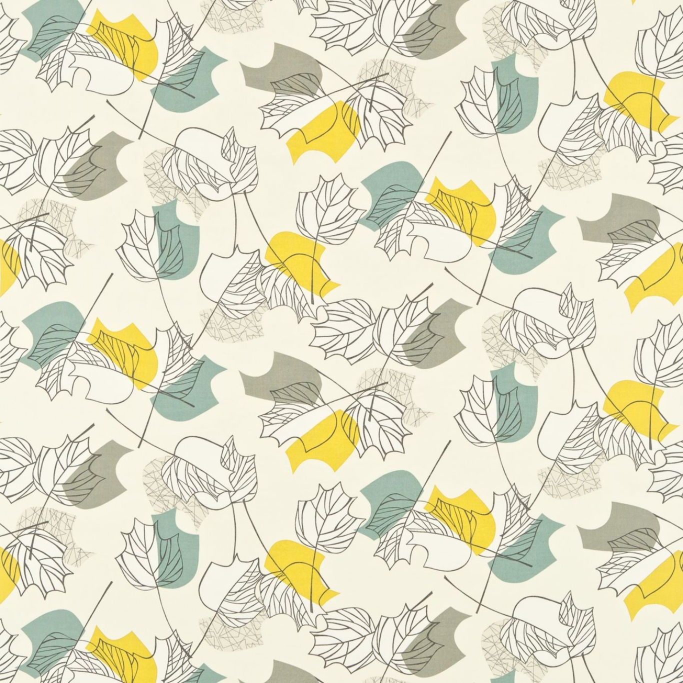 Image of Sanderson Maple Chaffinch Curtain Fabric 222375