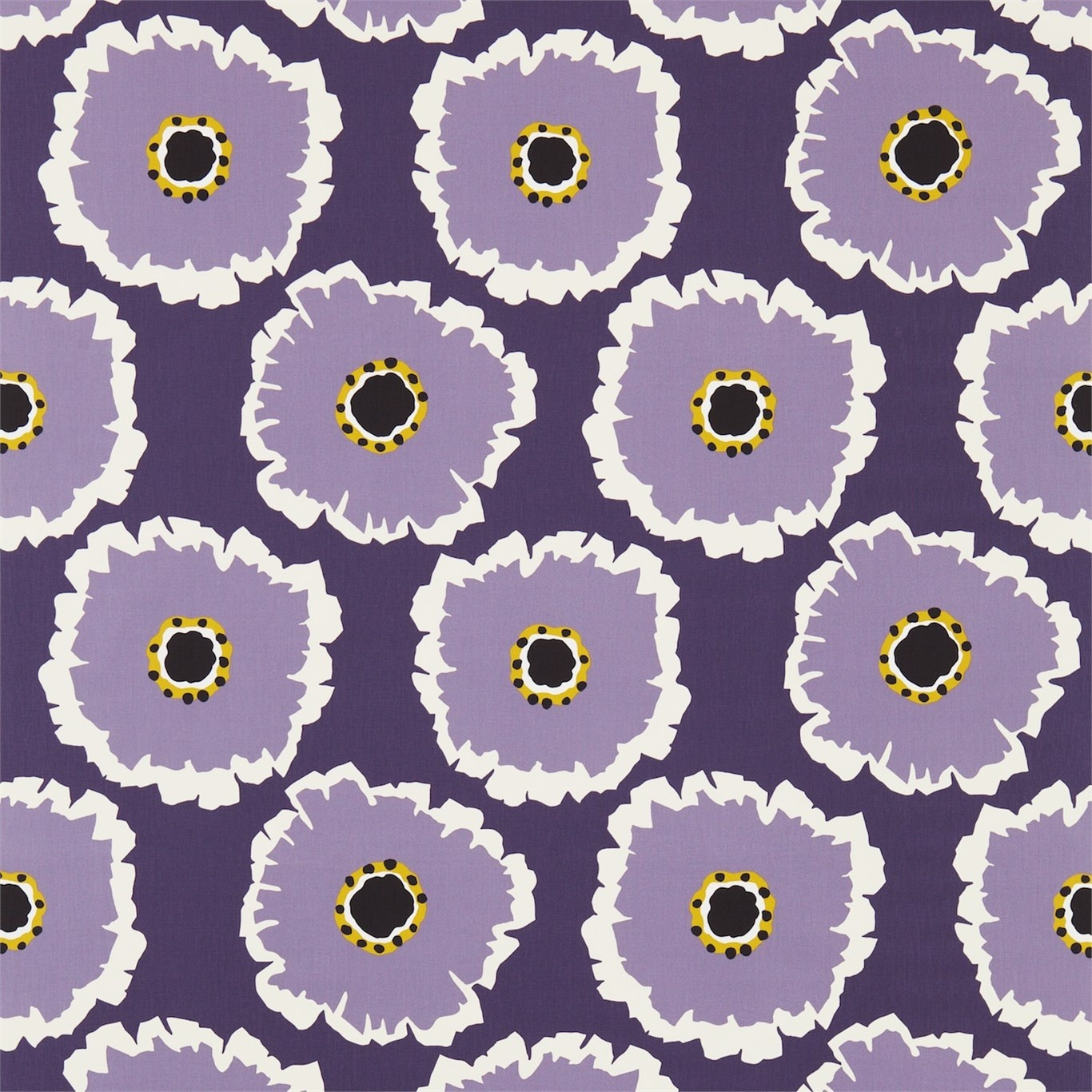 Image of Sanderson Papavera Fig/Damson Fabric 224614