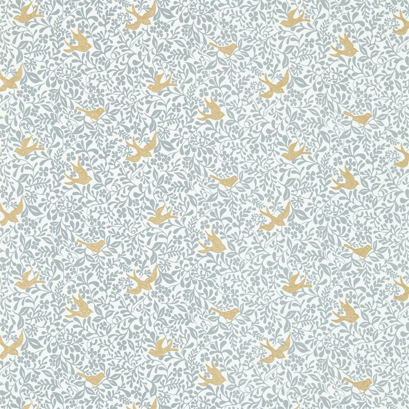 Image of Sanderson Larksong Dove/Honey Fabric 234652