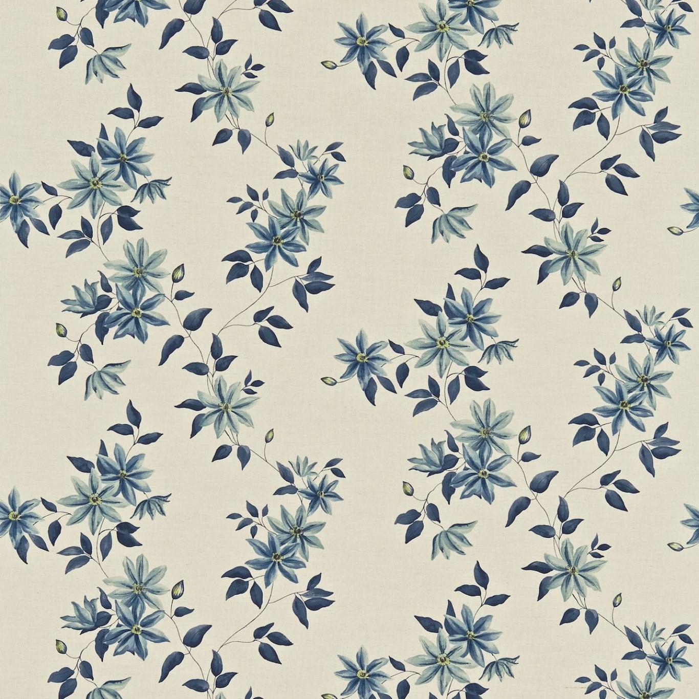 Sanderson Wisley Indigo Linen Curtain Fabric