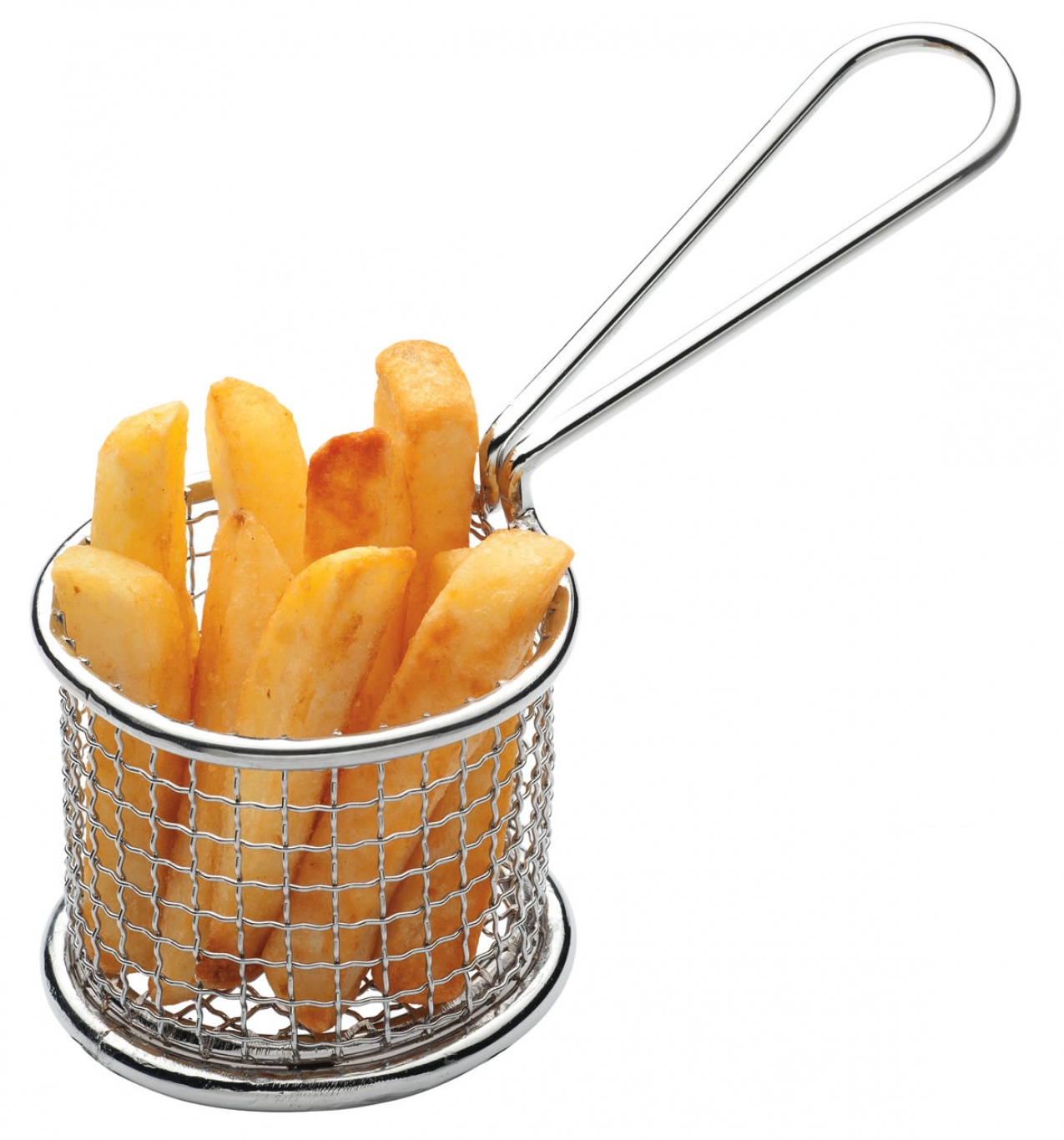 Image of Mini Stainless Steel  Frying Basket 8.5 cm