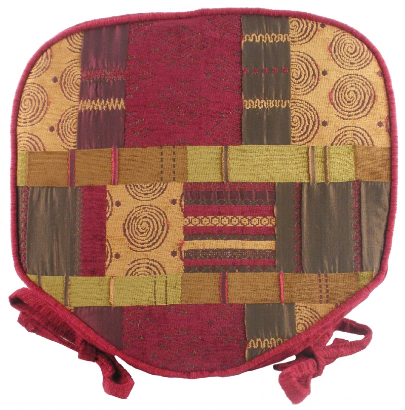 Image of Morocco Walled Seat Pad Wine