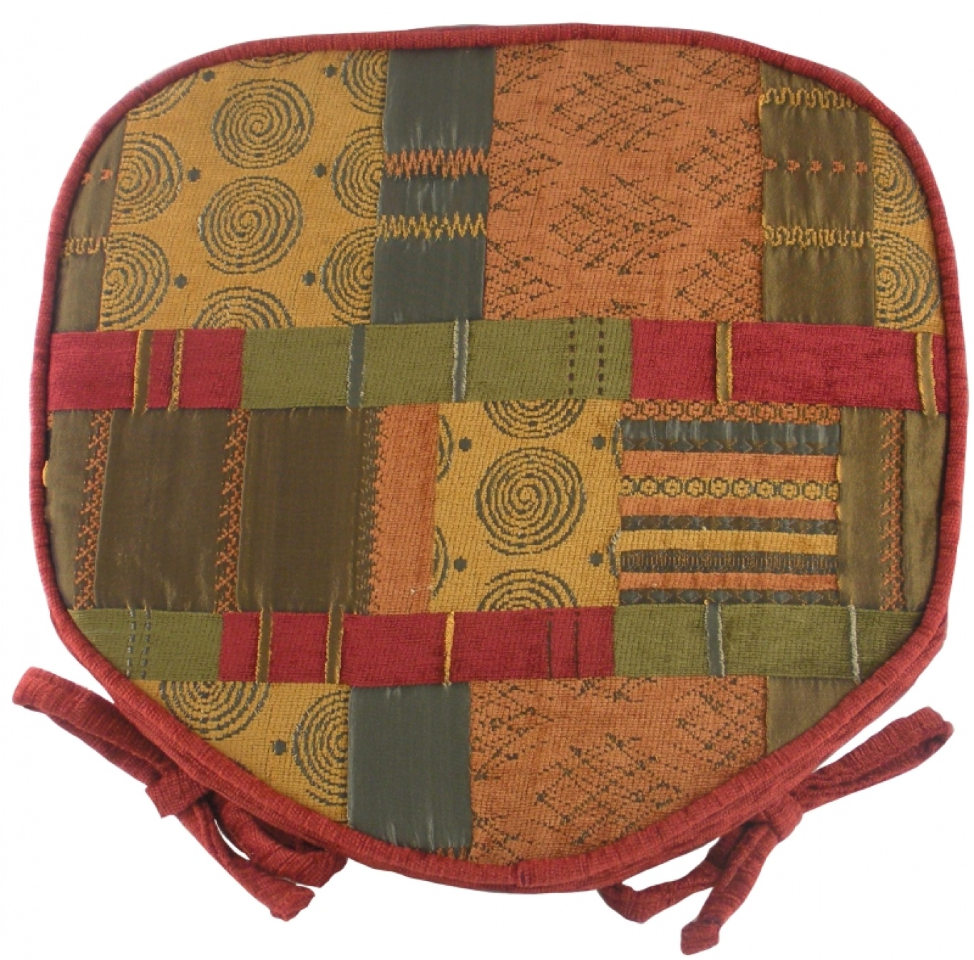 Image of Morocco Walled Seat Pad Terracotta