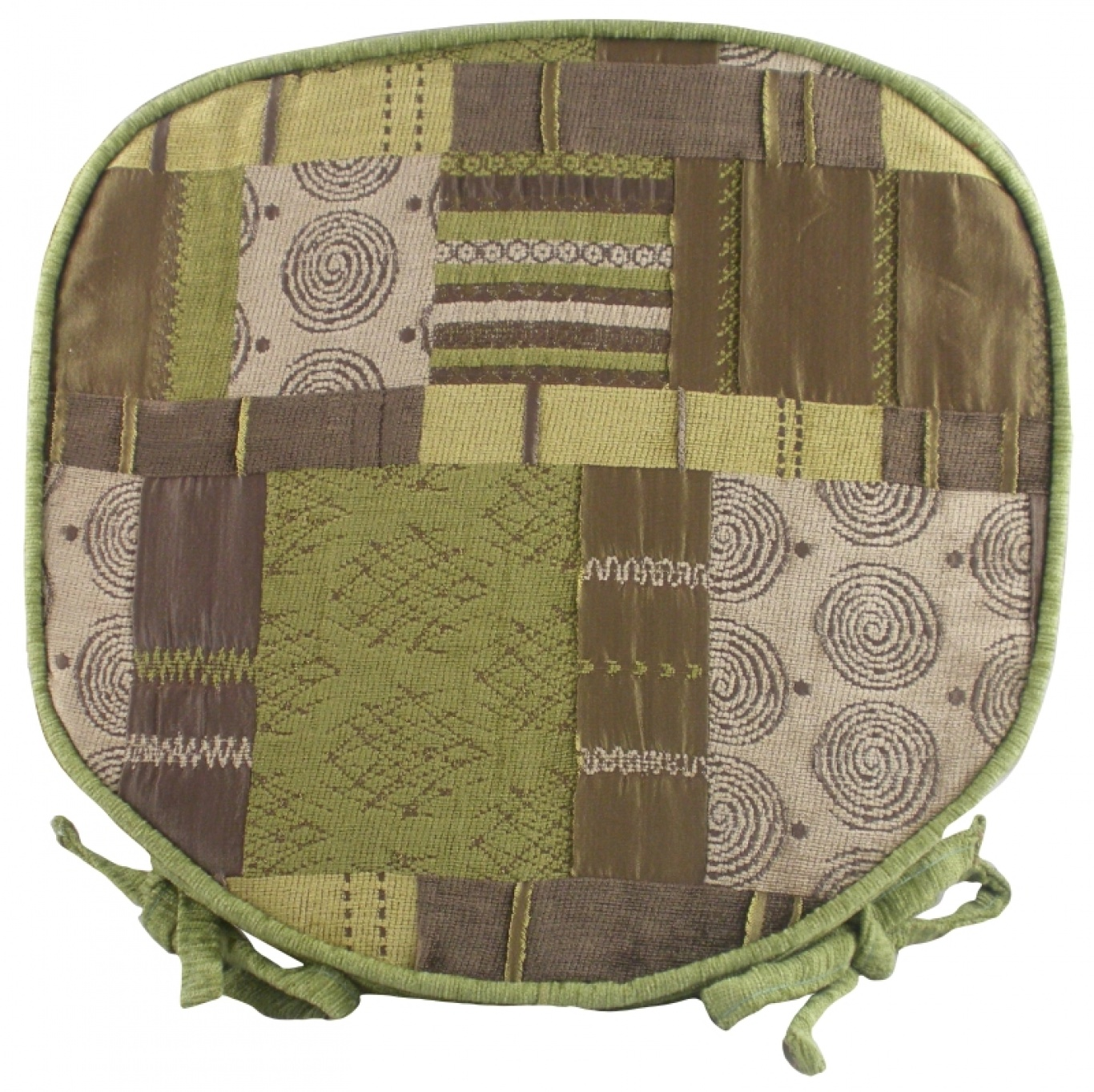 Image of Morocco Walled Seat Pad Green