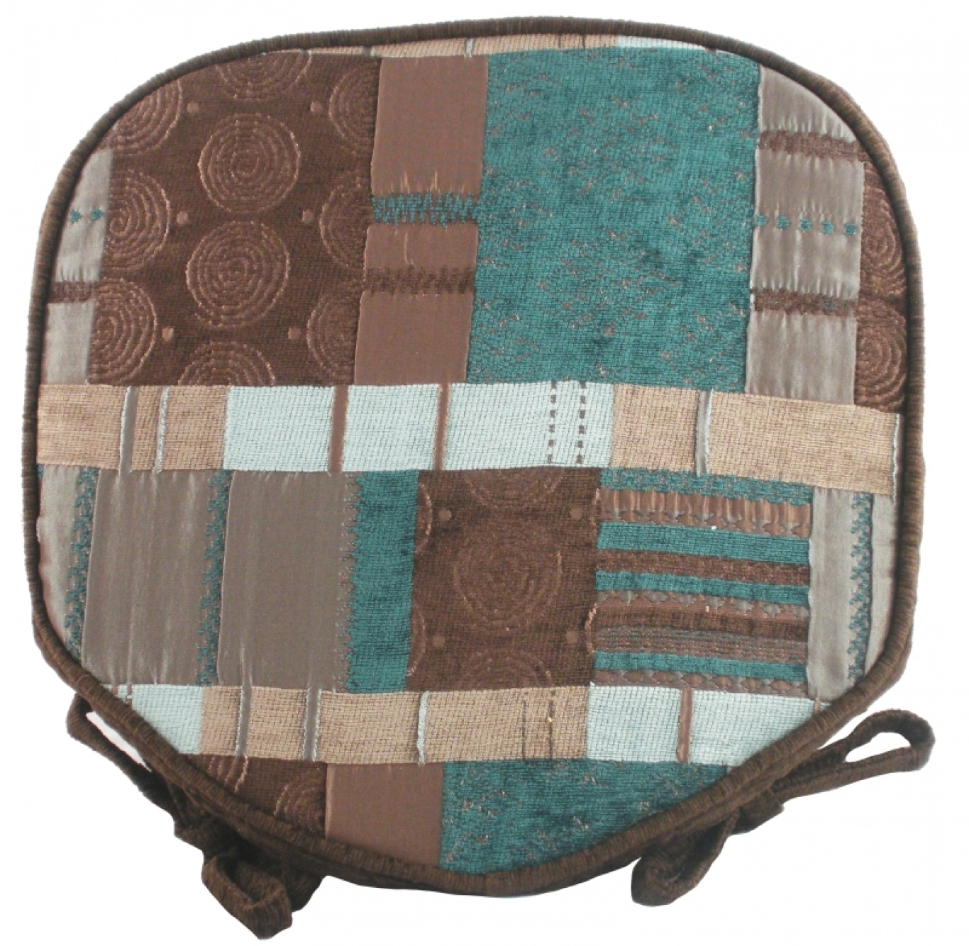 Image of Morocco Walled Seat Pad Azure