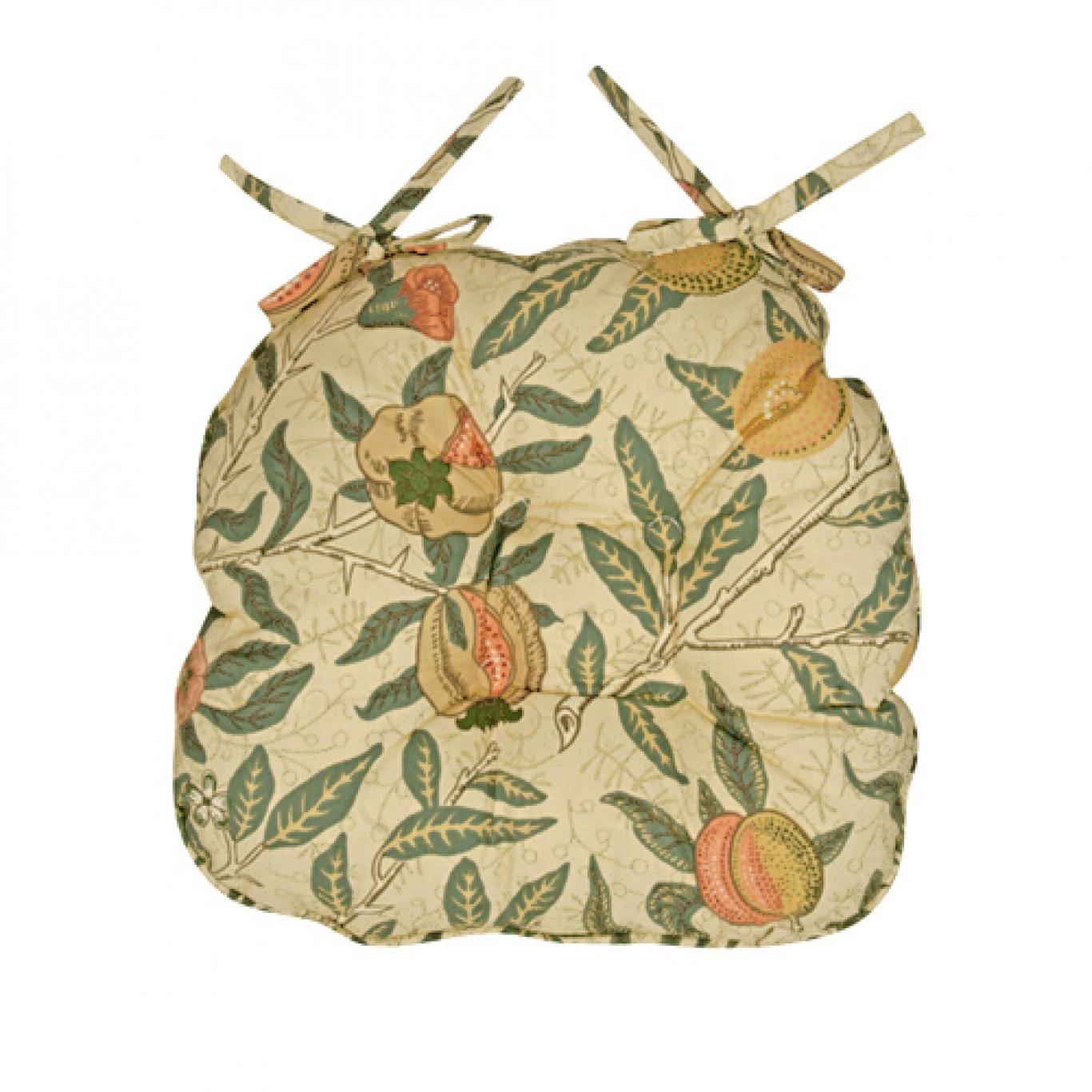 Image of William Morris Fruit Button Effect Seat Pad
