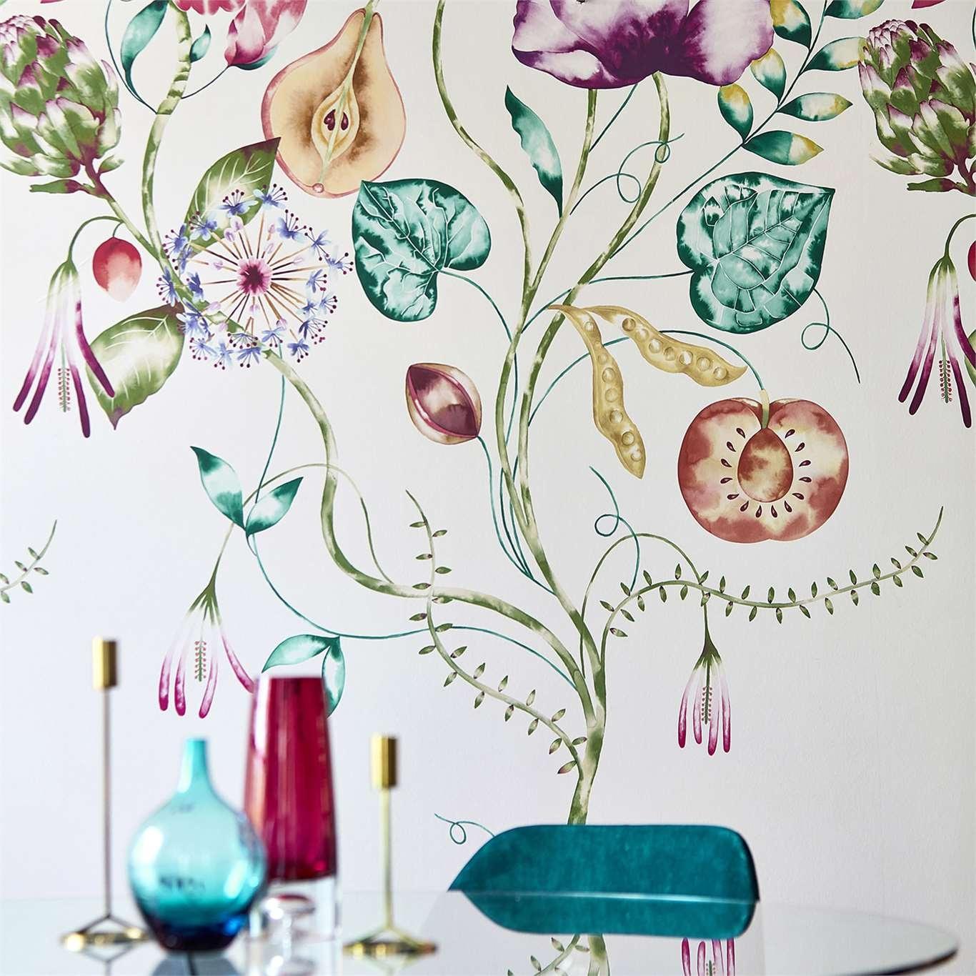 Harlequin Quintessence Lagoon/Cerise Wallpaper 111775
