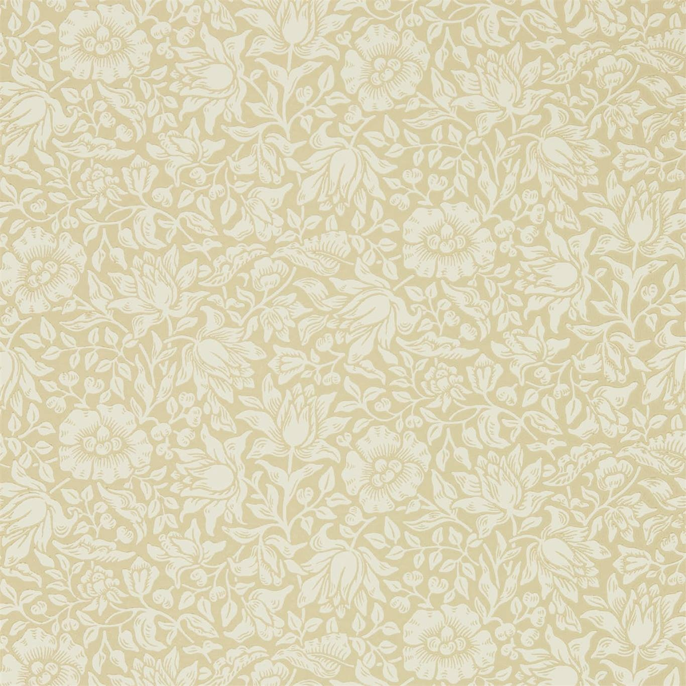 Image of Morris & Co Mallow Soft Gold Wallpaper 216677