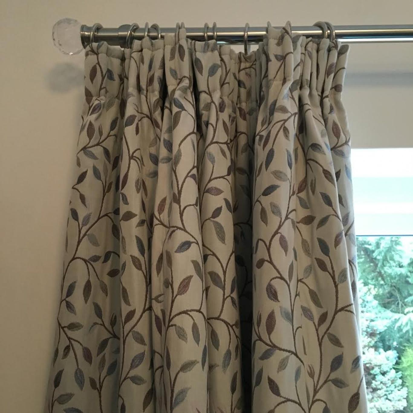Voyage Cervino Blush Pencil Pleat Curtains 2 Widths 153cm Drop