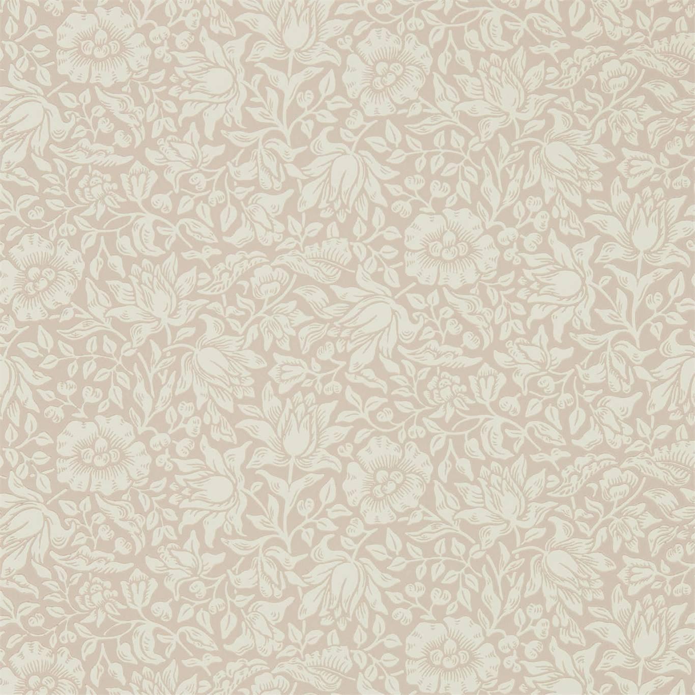 Image of Morris & Co Mallow Dusky Rose Wallpaper 216675