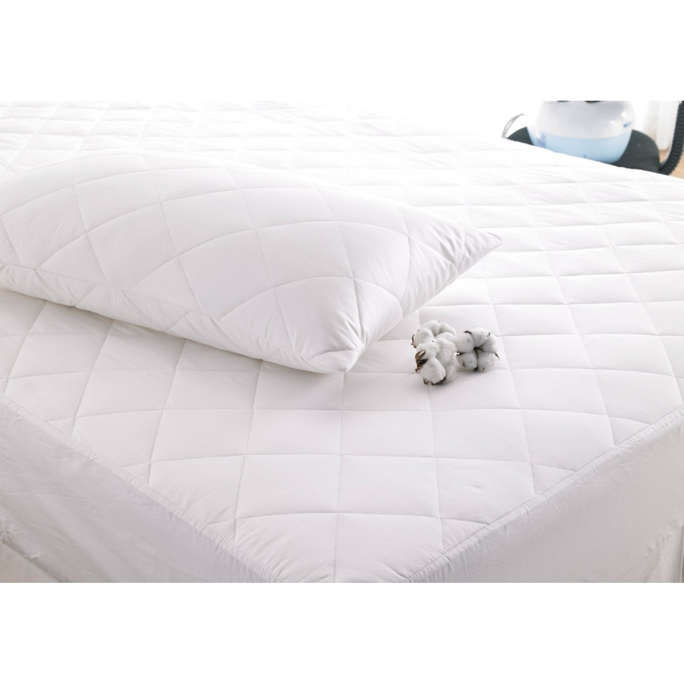 Deep Fill Cotton Pillow Protector