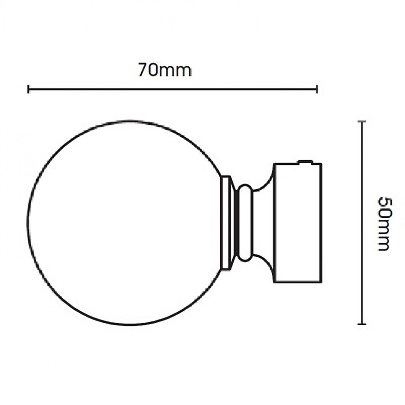 Swish Belgravia 19mm Chrome Metal Pole