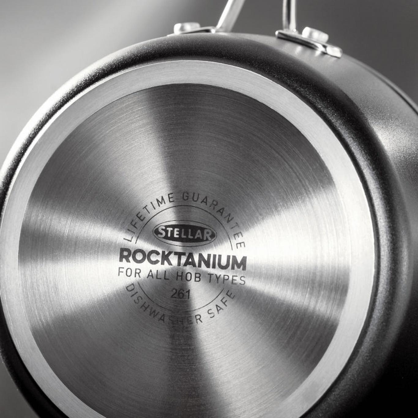 Stellar Rocktanium 5 pce Saucepan Set