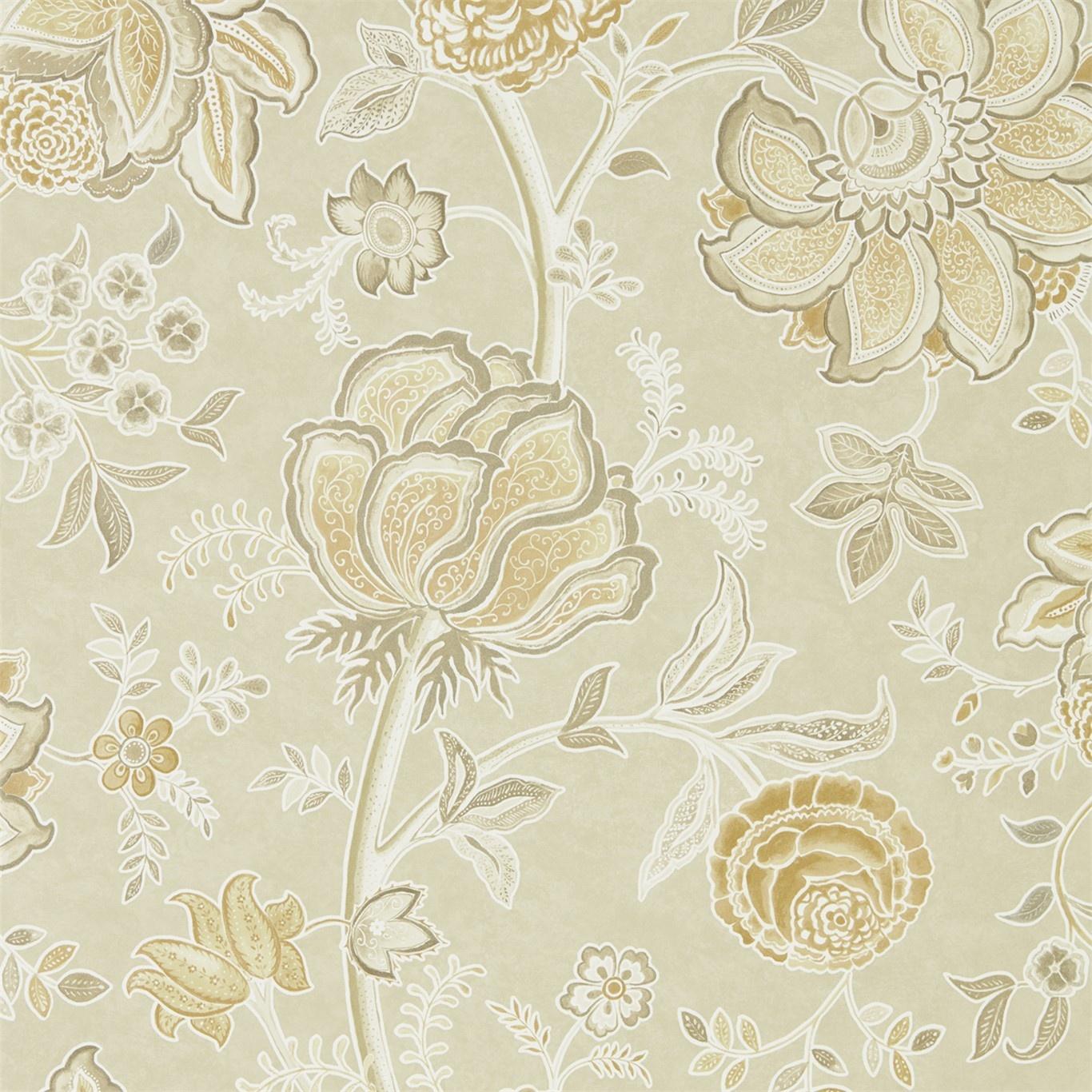 ltd sanderson shalimar linen sepia wallpaper 216309