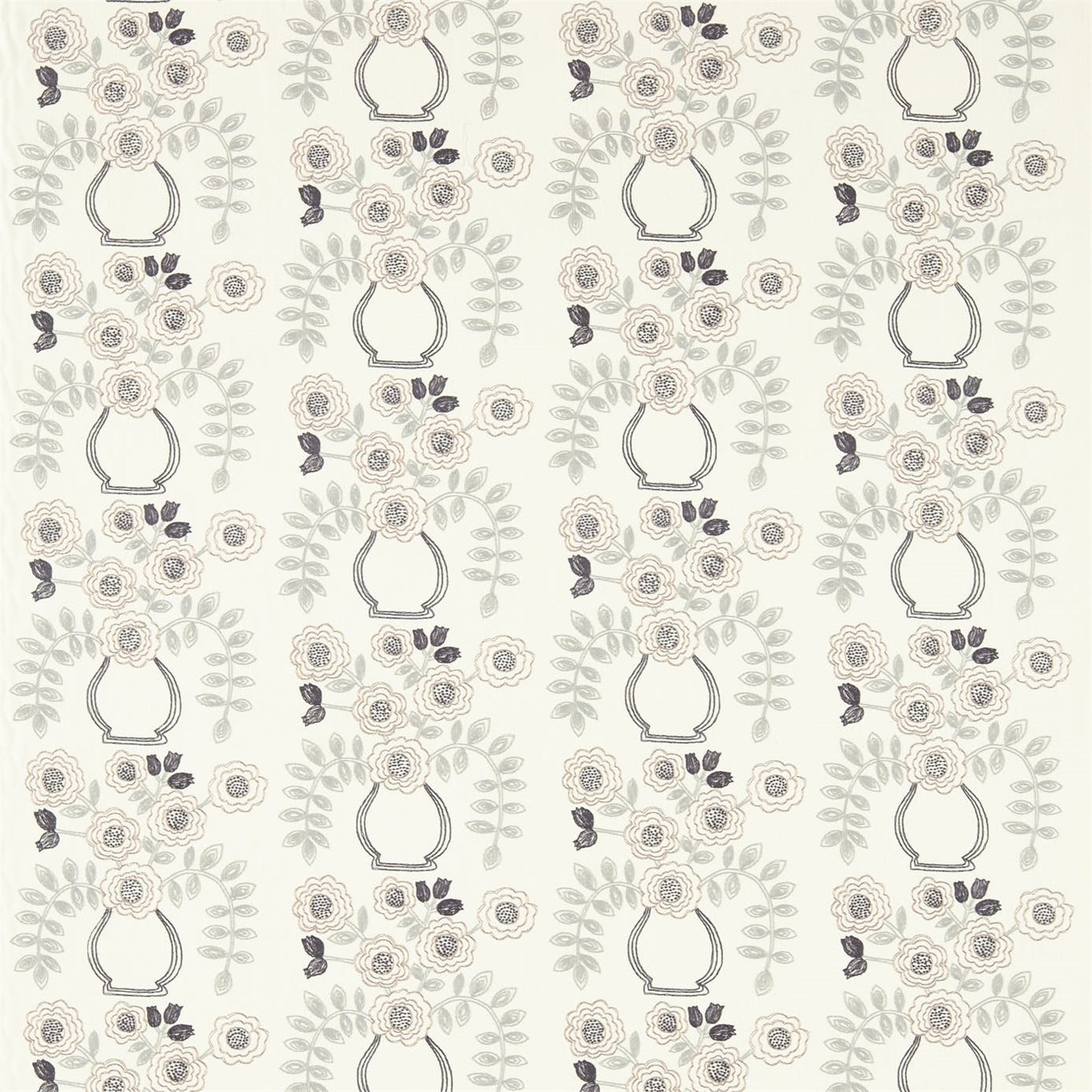 Image of Sanderson Home Flower Pot Mineral Curtain Fabric 235874