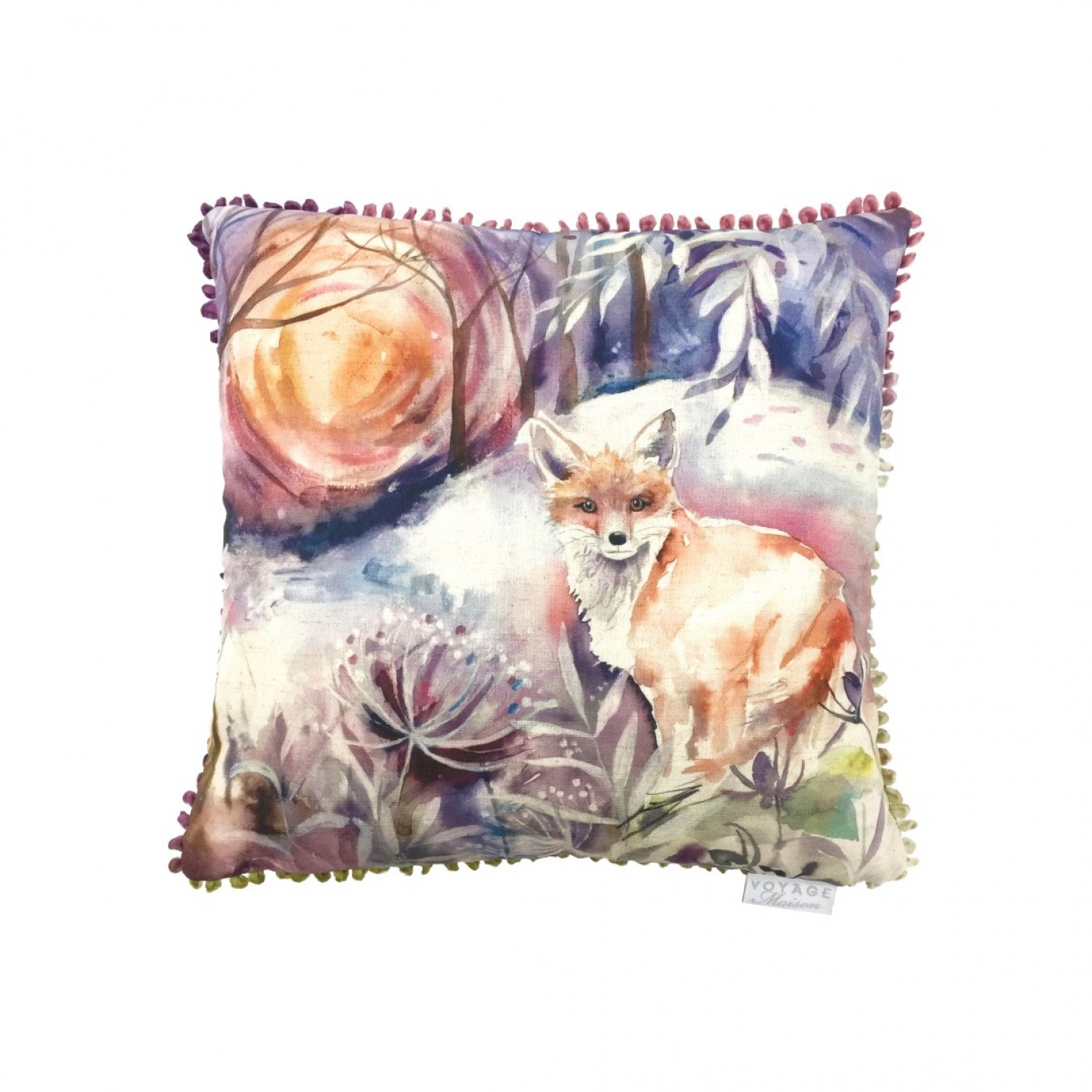Image of Voyage Midnight Fox Cushion