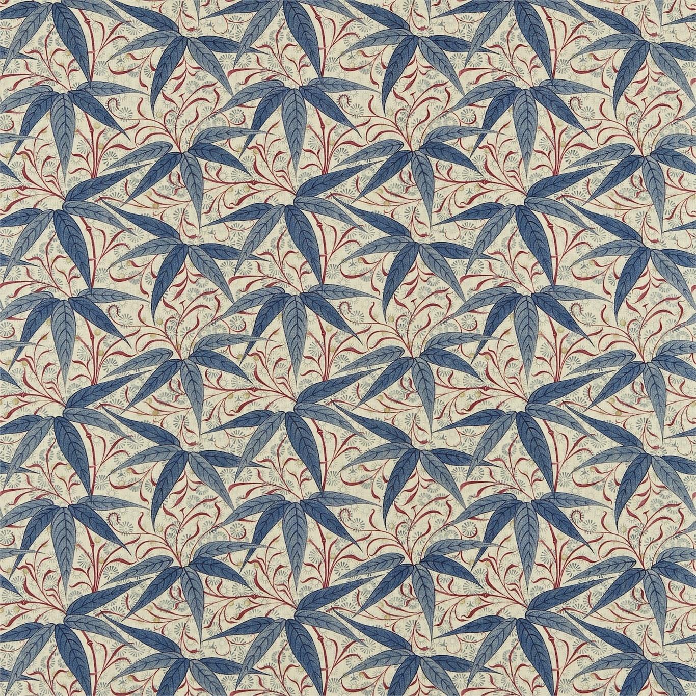 Image of Morris & Co Bamboo Indigo/Woad Curtain Fabric 222528