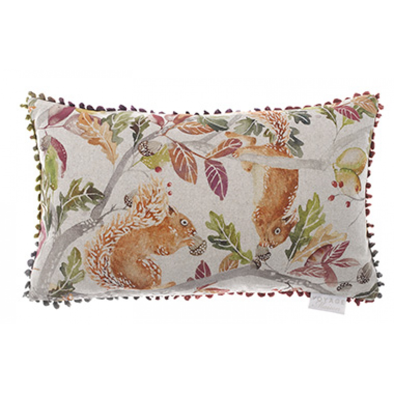 Image of Voyage Scurry of Squirrels Linen Cushion