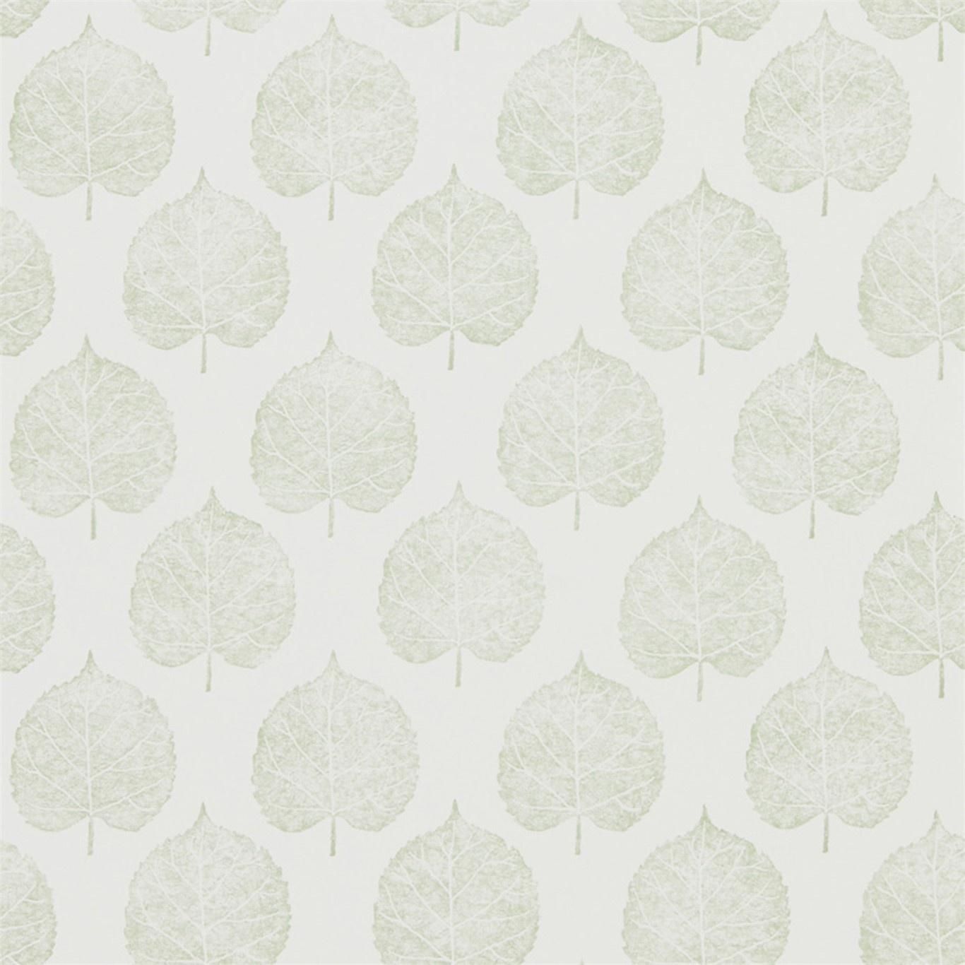 Image of Sanderson Home Lyme Leaf Celadon Wallpaper 216383