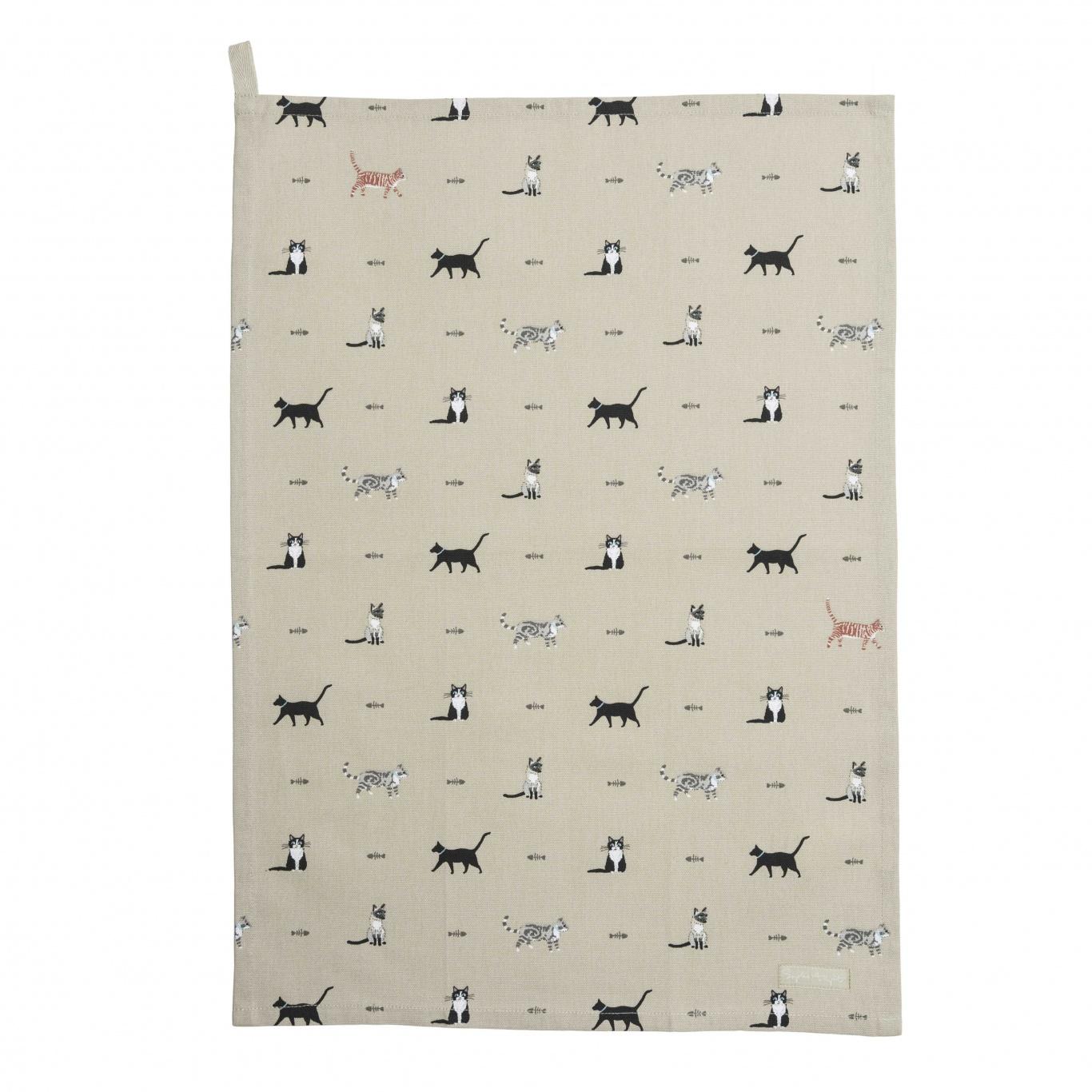 Image of Sophie Allport Purrfect Tea Towel